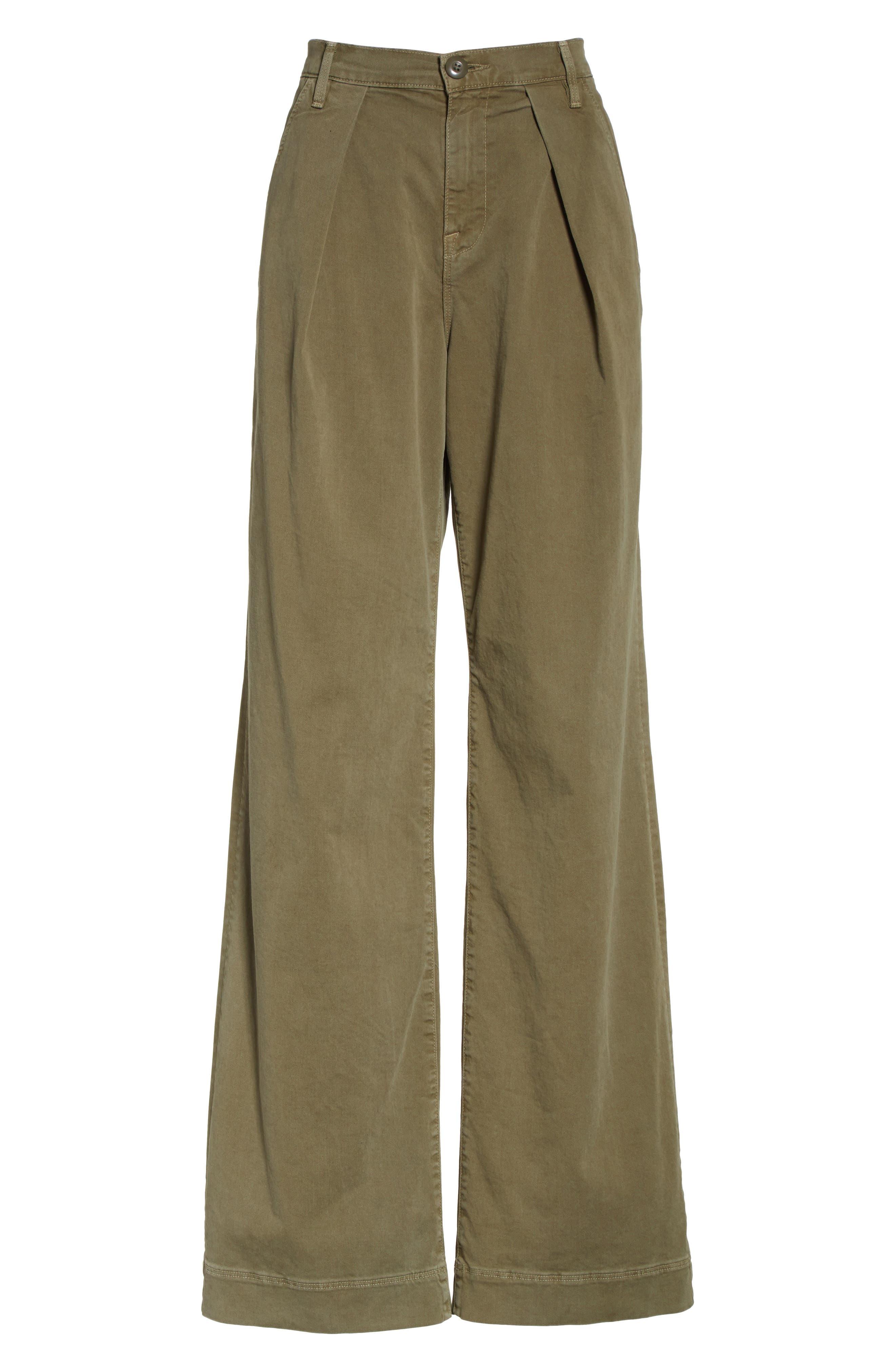 Le Service Wide Leg Pants,                             Alternate thumbnail 6, color,                             Militia Green