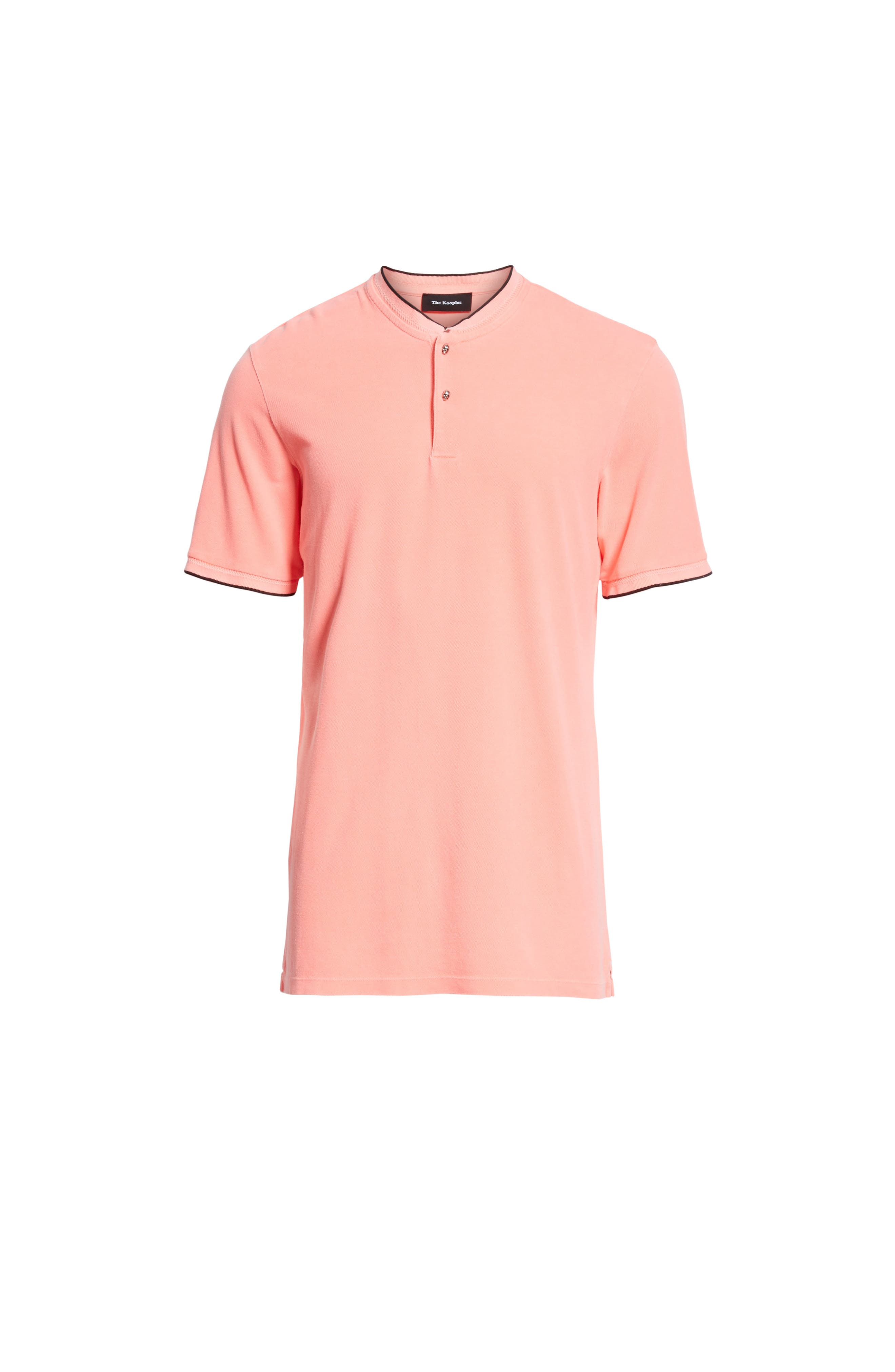 Tipped Polo,                             Alternate thumbnail 6, color,                             Pink 1