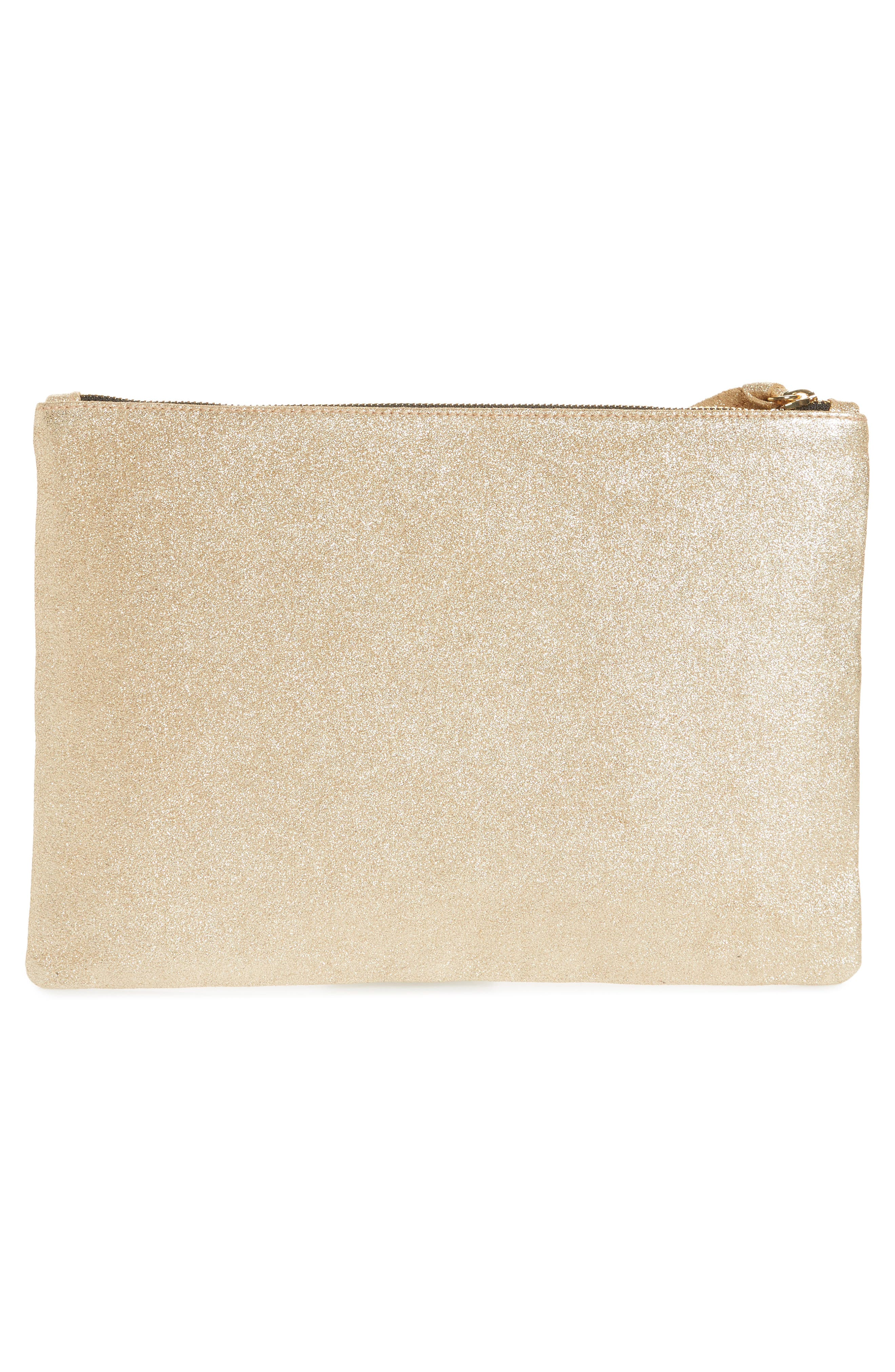 Alternate Image 3  - Clare V. Maison Metallic Suede Flat Clutch
