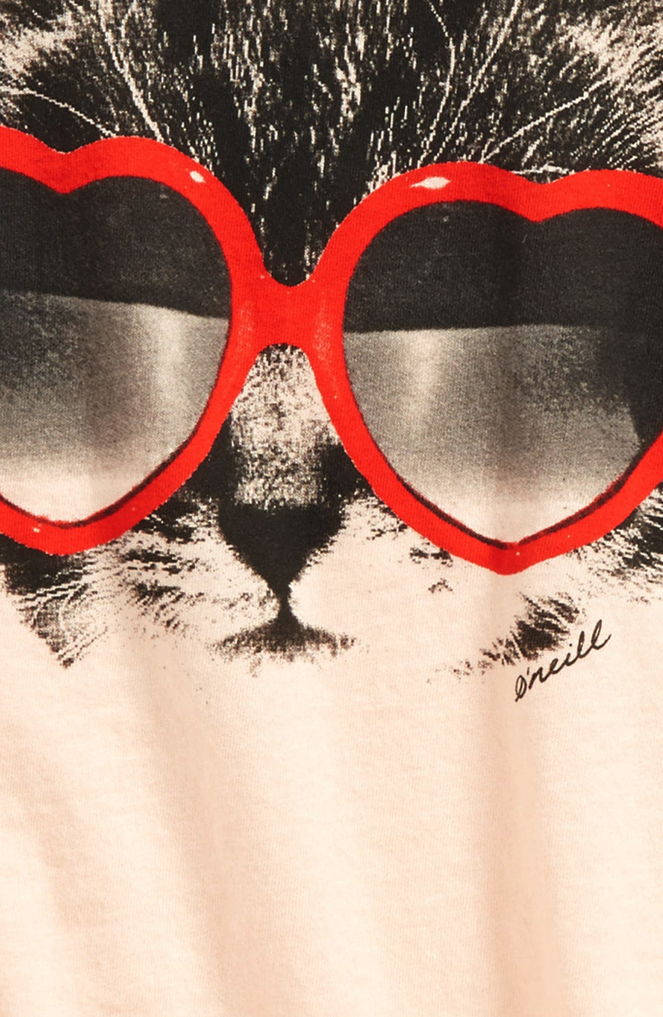 Tabby Graphic Tee,                             Alternate thumbnail 2, color,                             Cameo Rose - Lly