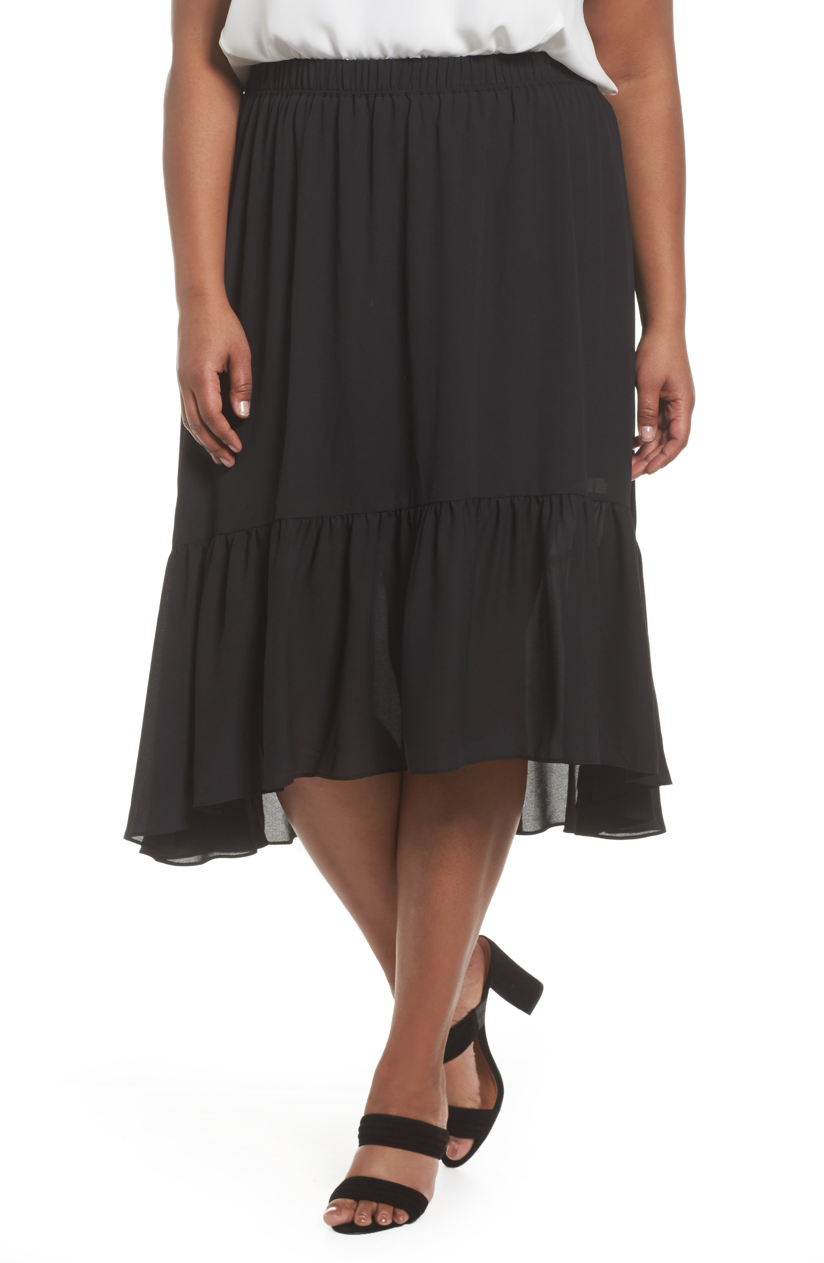 Sejour Ruffle Skirt (Plus Size)