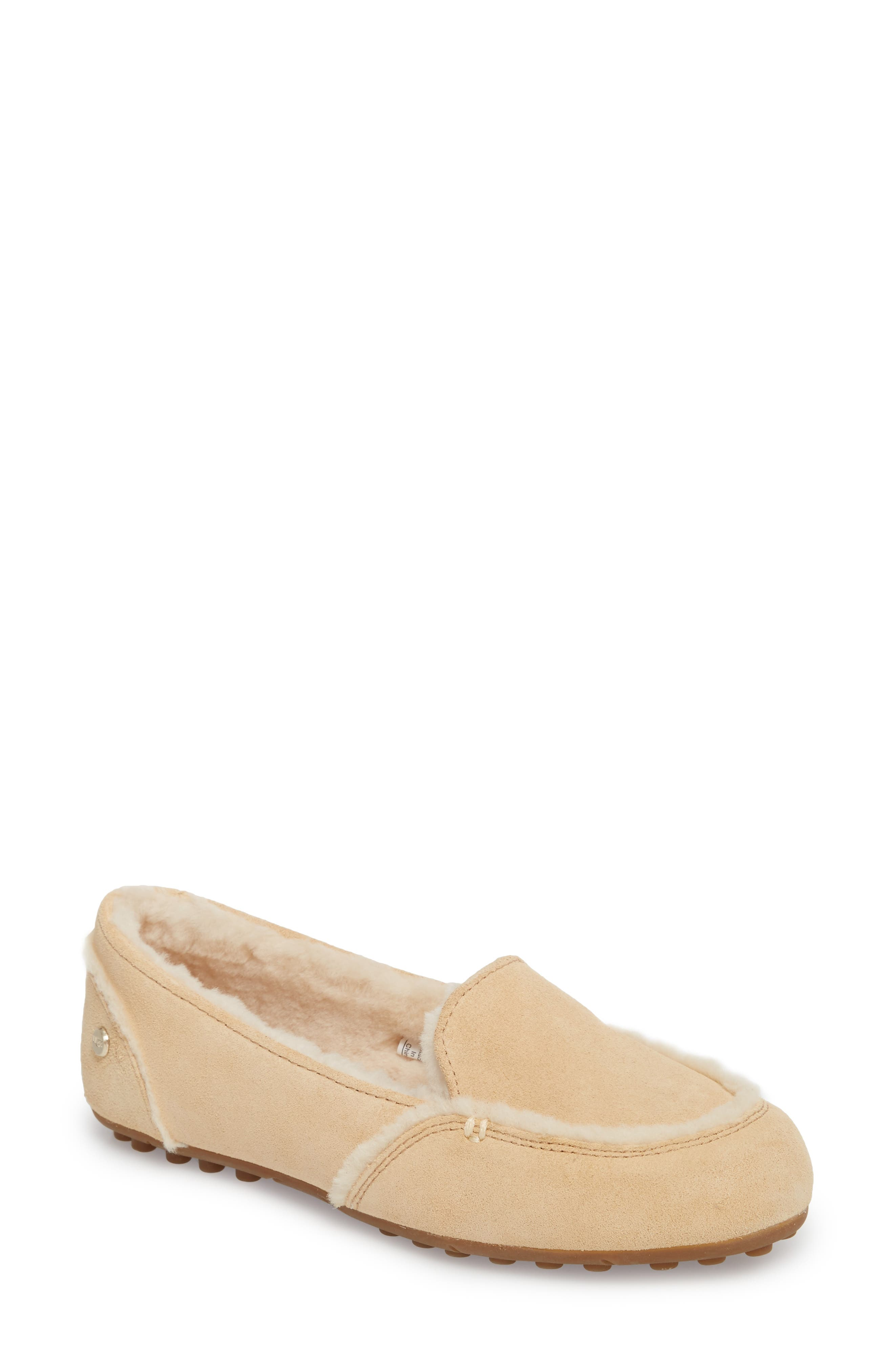 Hailey Slipper,                         Main,                         color, Beige Suede