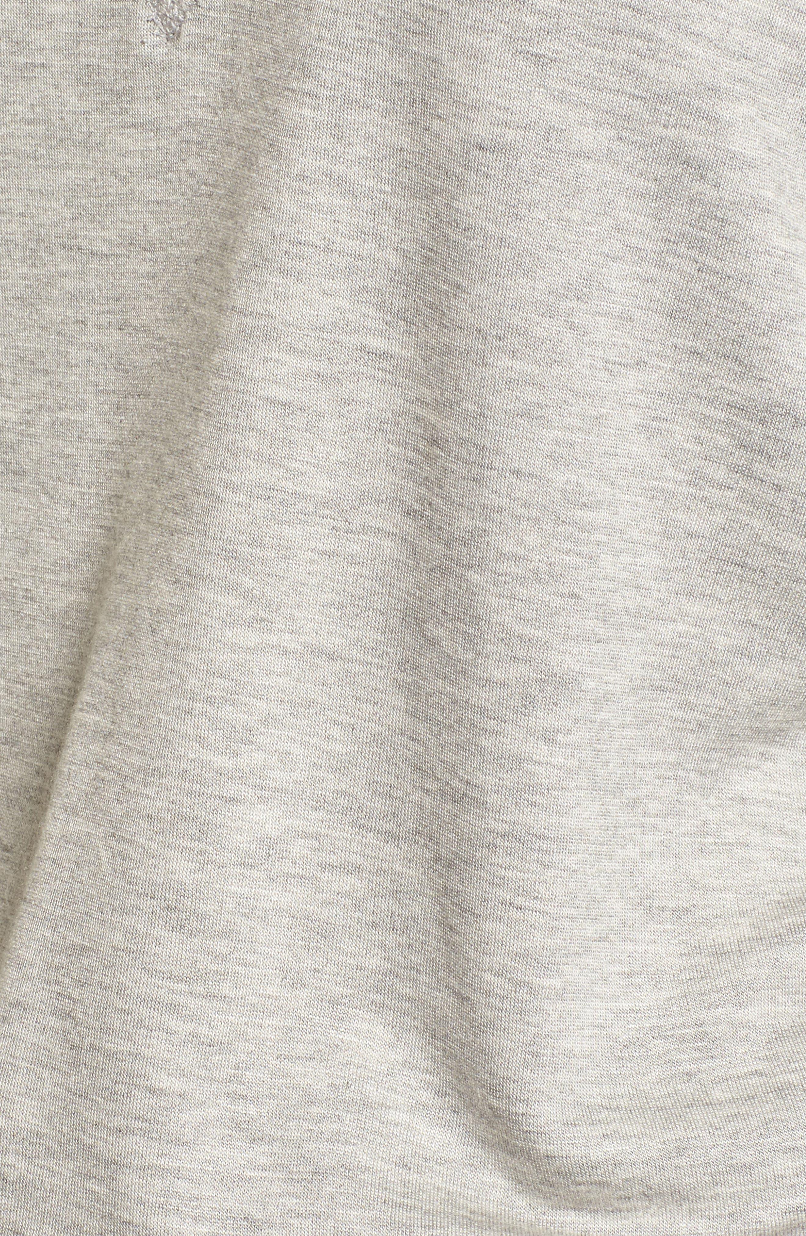 Thumbhole Cuff Sweater,                             Alternate thumbnail 5, color,                             Grey