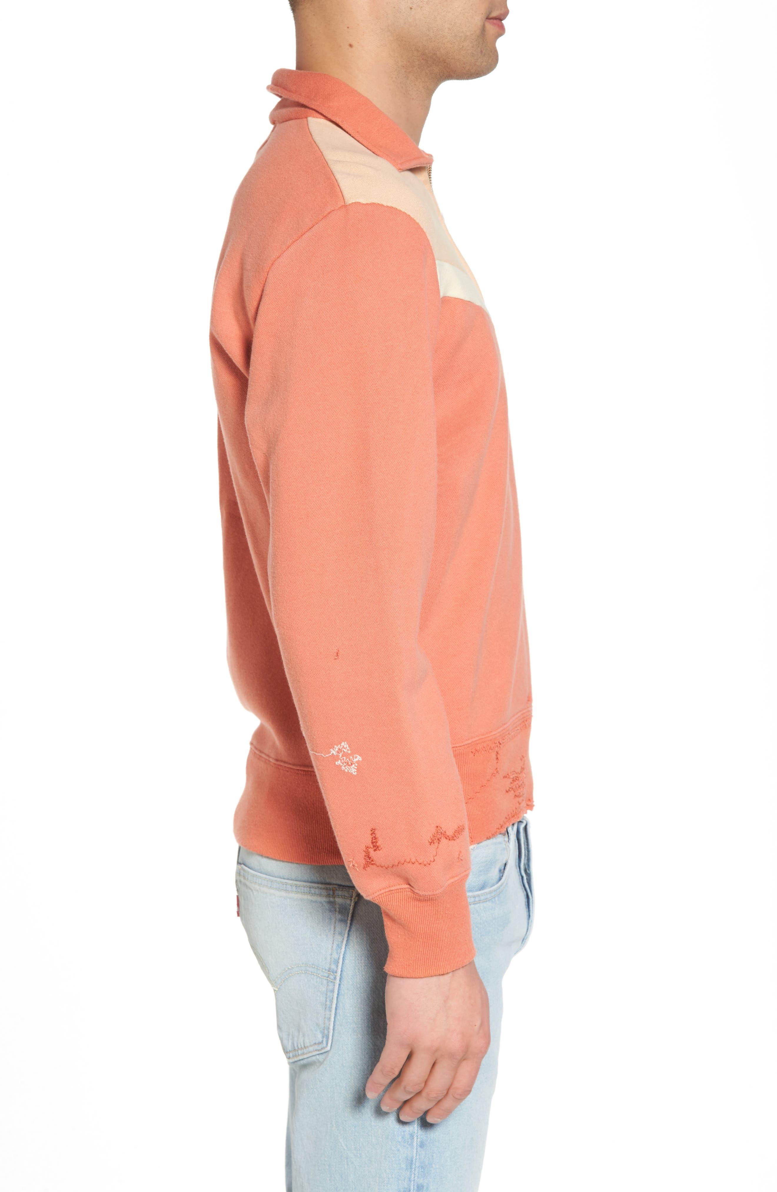 Alternate Image 3  - Levi's® Vintage Clothing Colorblocked Quarter Zip Pullover