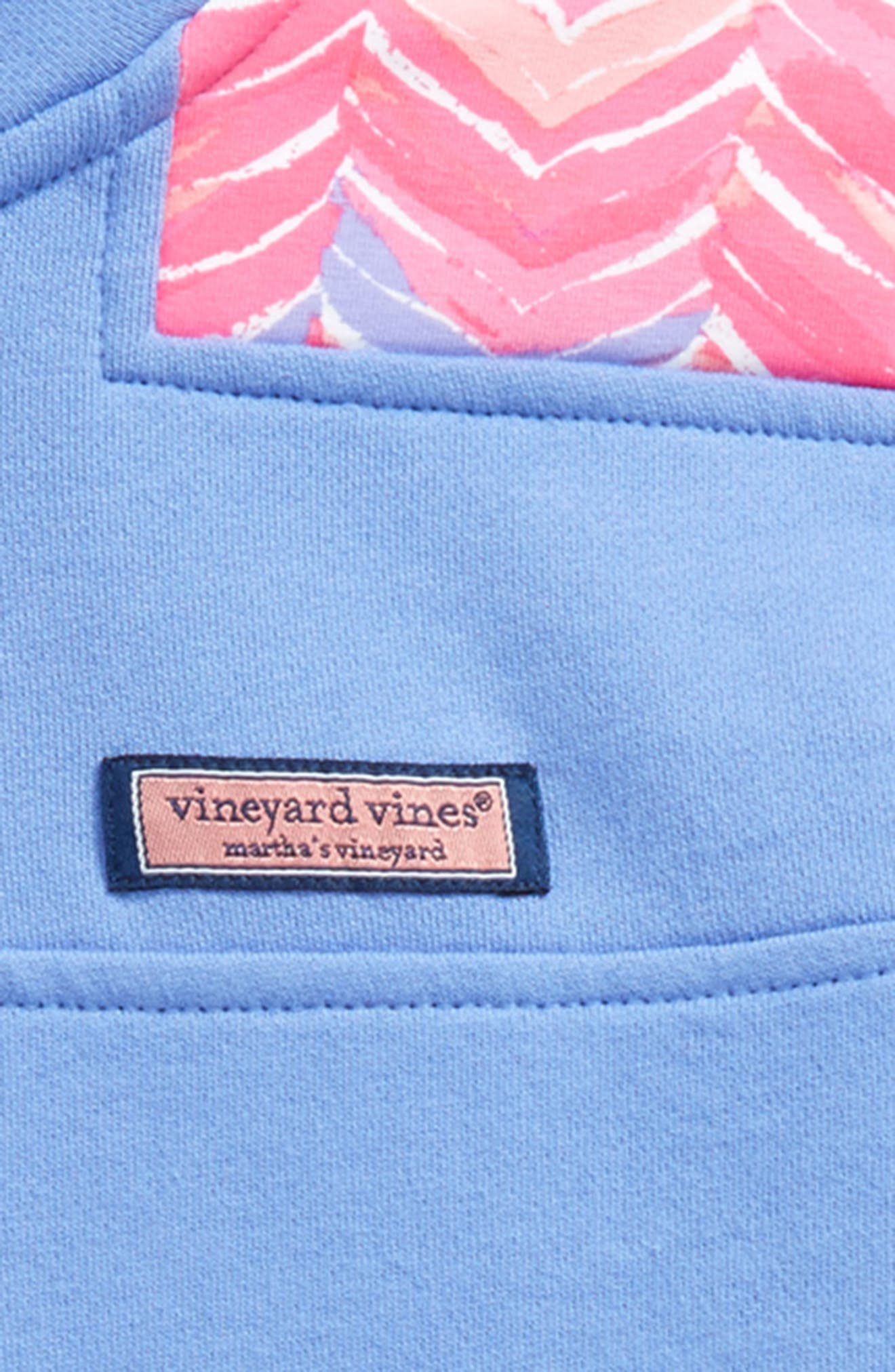 Whale Tail Shep Quarter Zip Pullover,                             Alternate thumbnail 2, color,                             Periwinkle