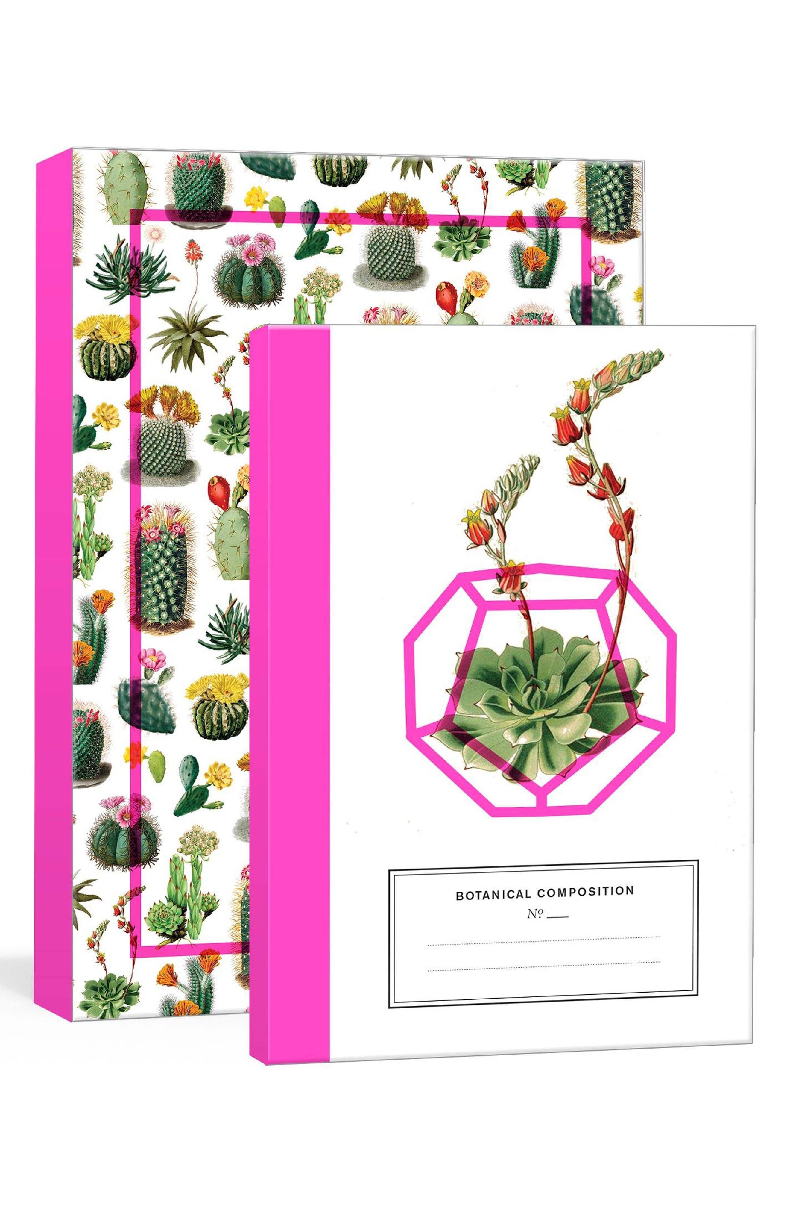 Set of 2 Cacti & Succulents Journals,                         Main,                         color, Multi