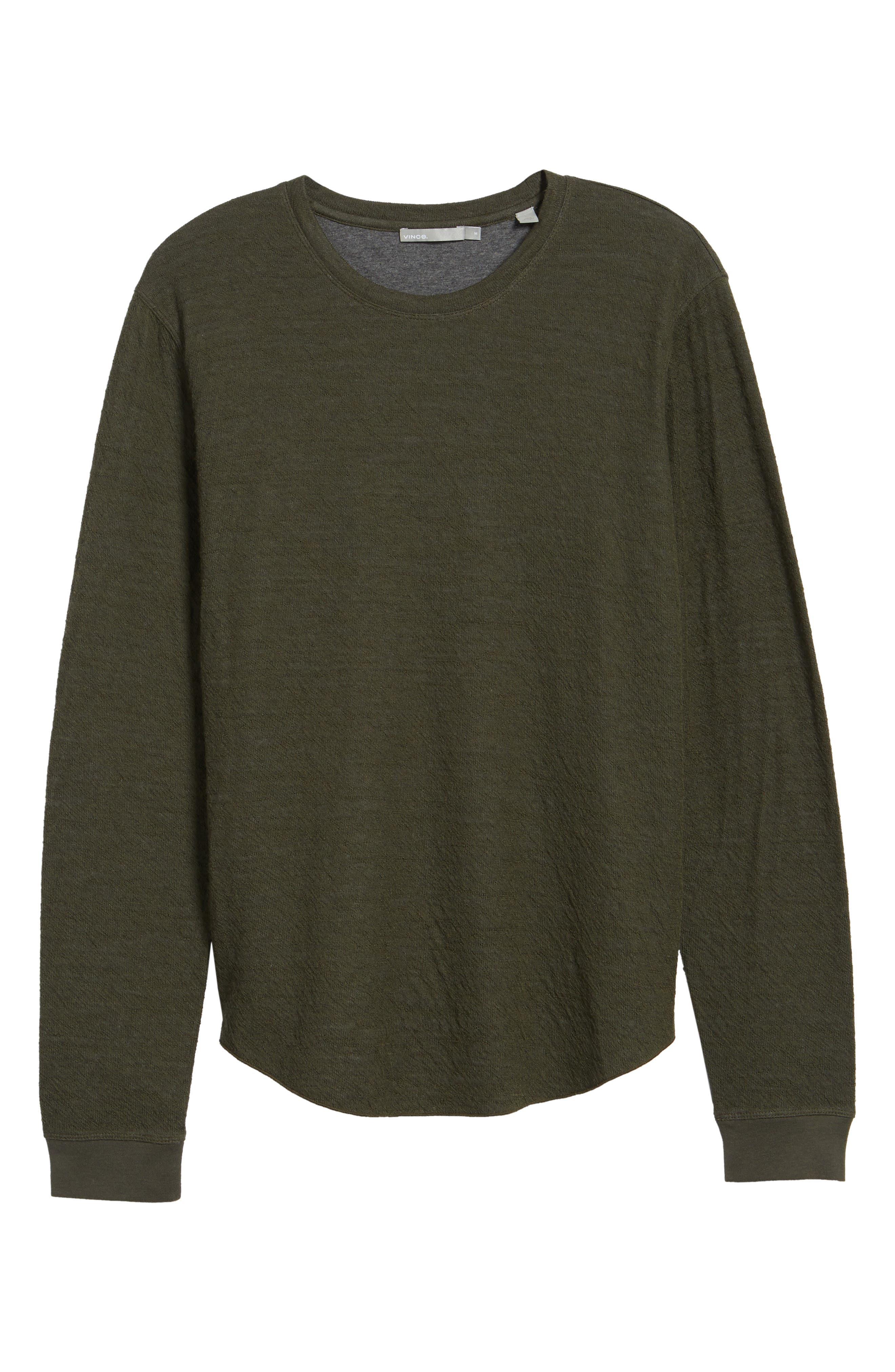 Alternate Image 7  - Vince Double Knit Long Sleeve Shirt