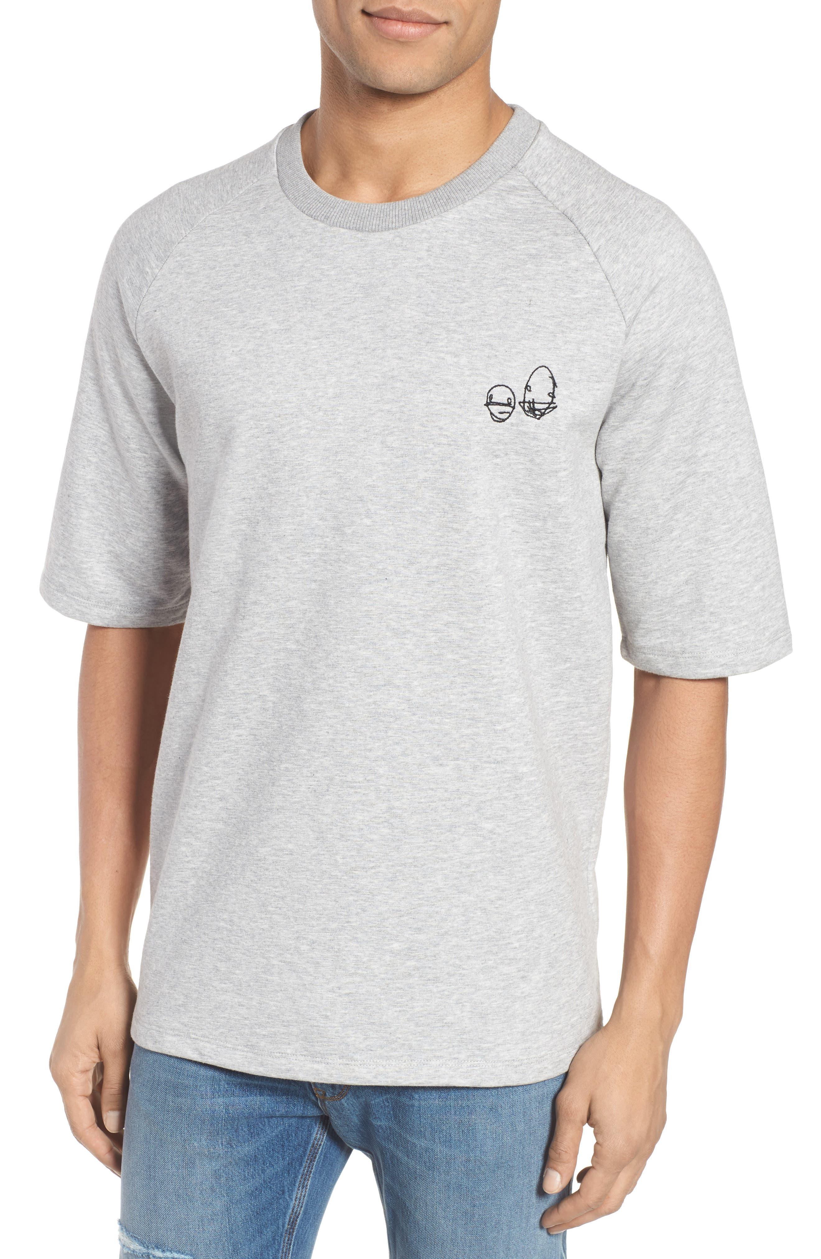 Deast Doodle Sweatshirt,                             Main thumbnail 1, color,                             Grey