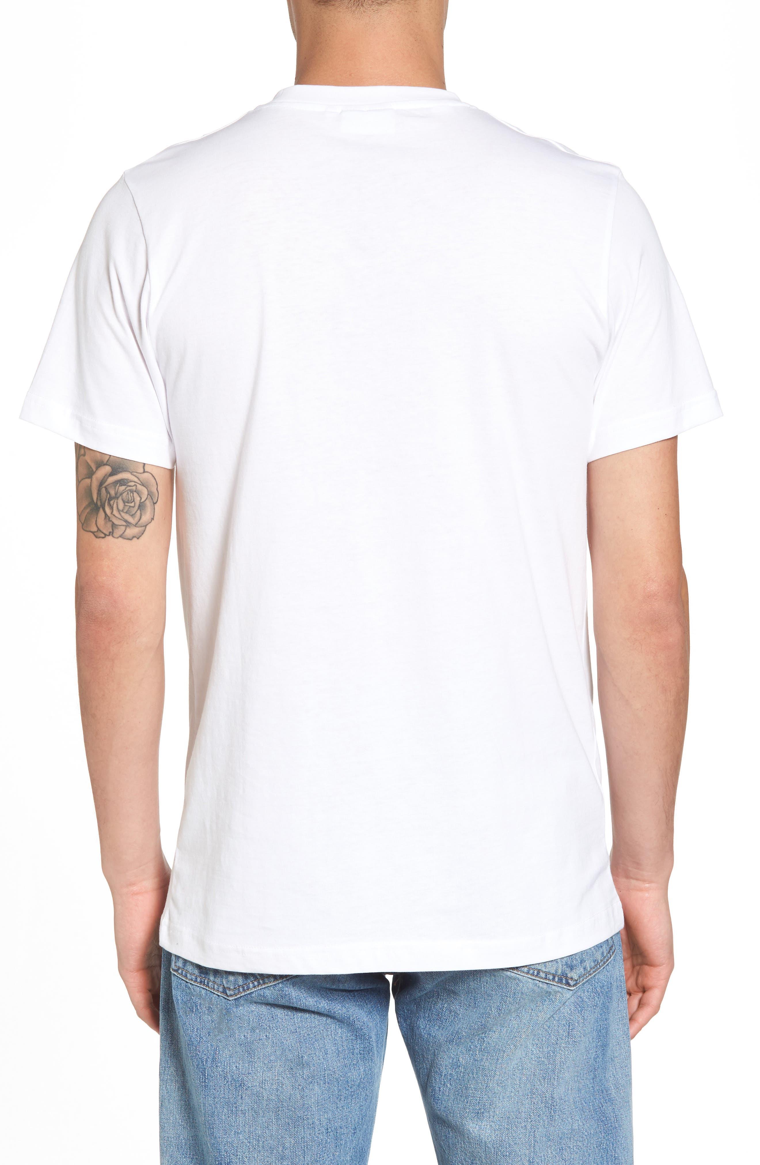 Max Peace Pizza Graphic T-Shirt,                             Alternate thumbnail 2, color,                             White