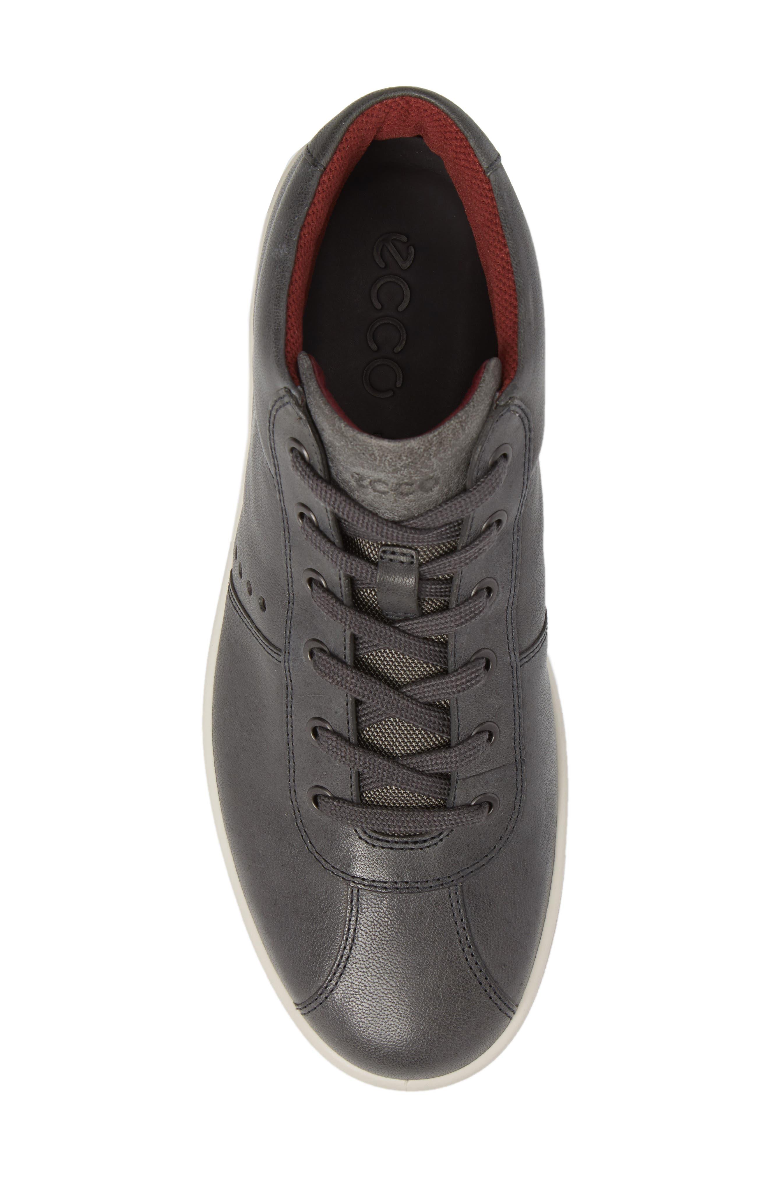 Kallum High Top Sneaker,                             Alternate thumbnail 5, color,                             Moonless Leather