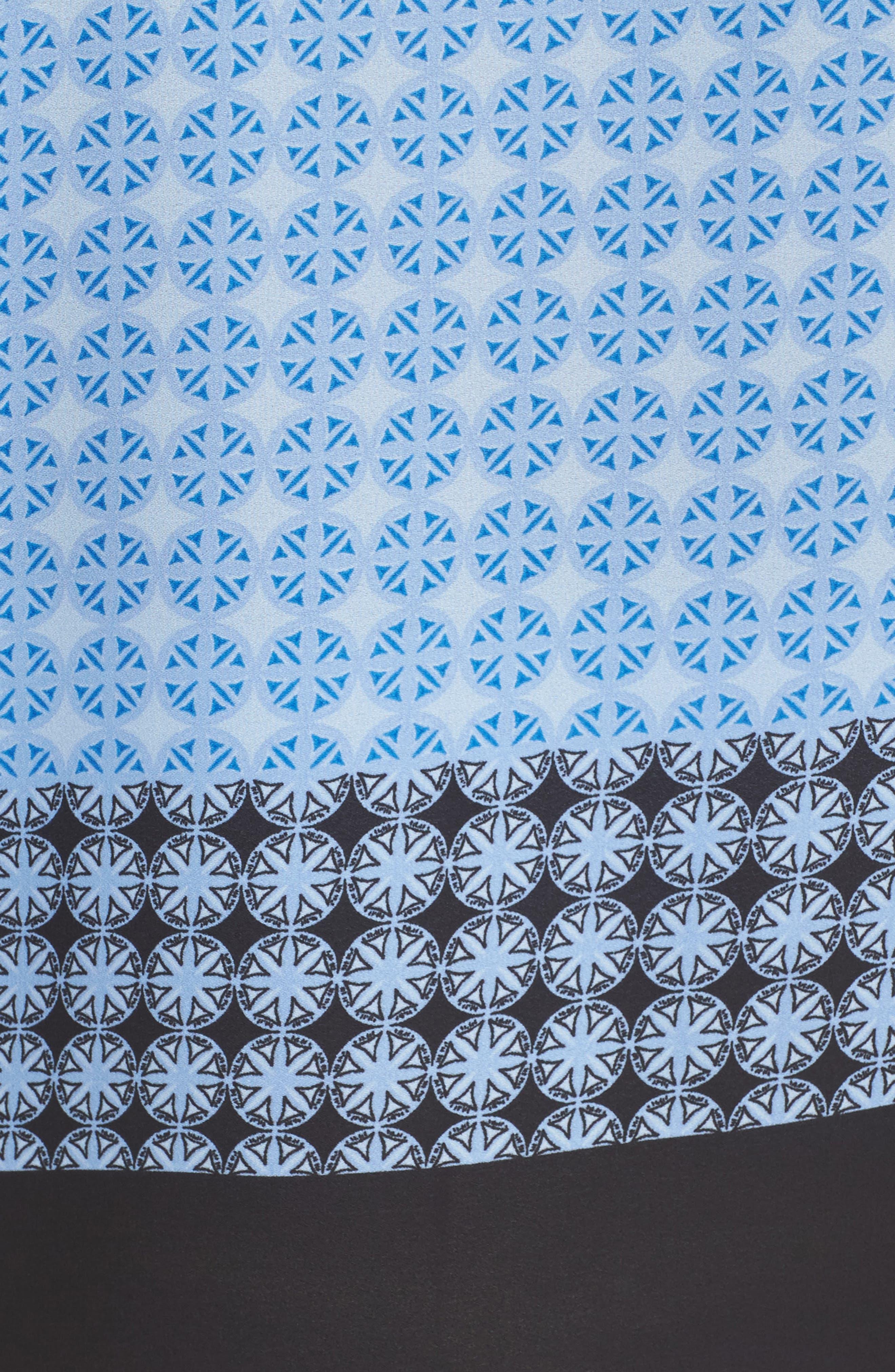 Veranda Tile Print Top,                             Alternate thumbnail 5, color,                             Oxford Blue