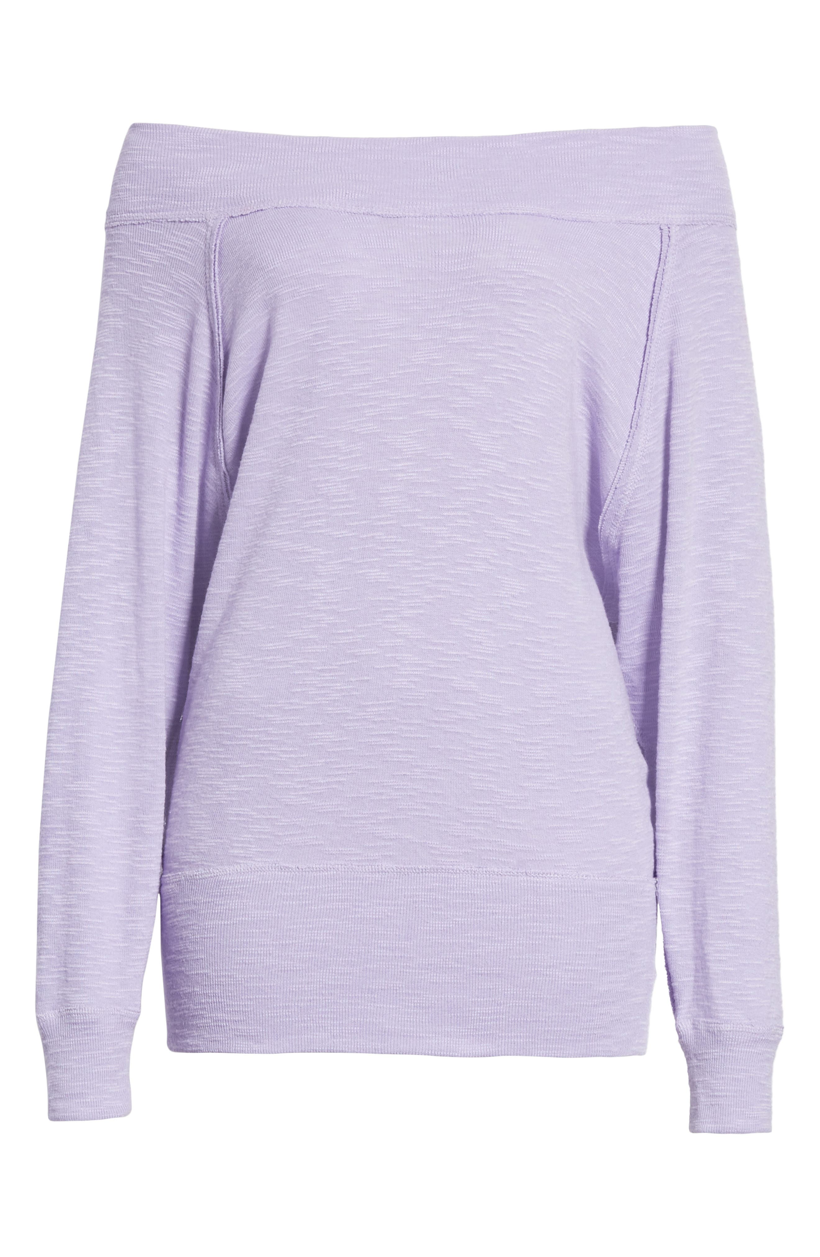 Palisades Off the Shoulder Top,                             Alternate thumbnail 6, color,                             Lilac