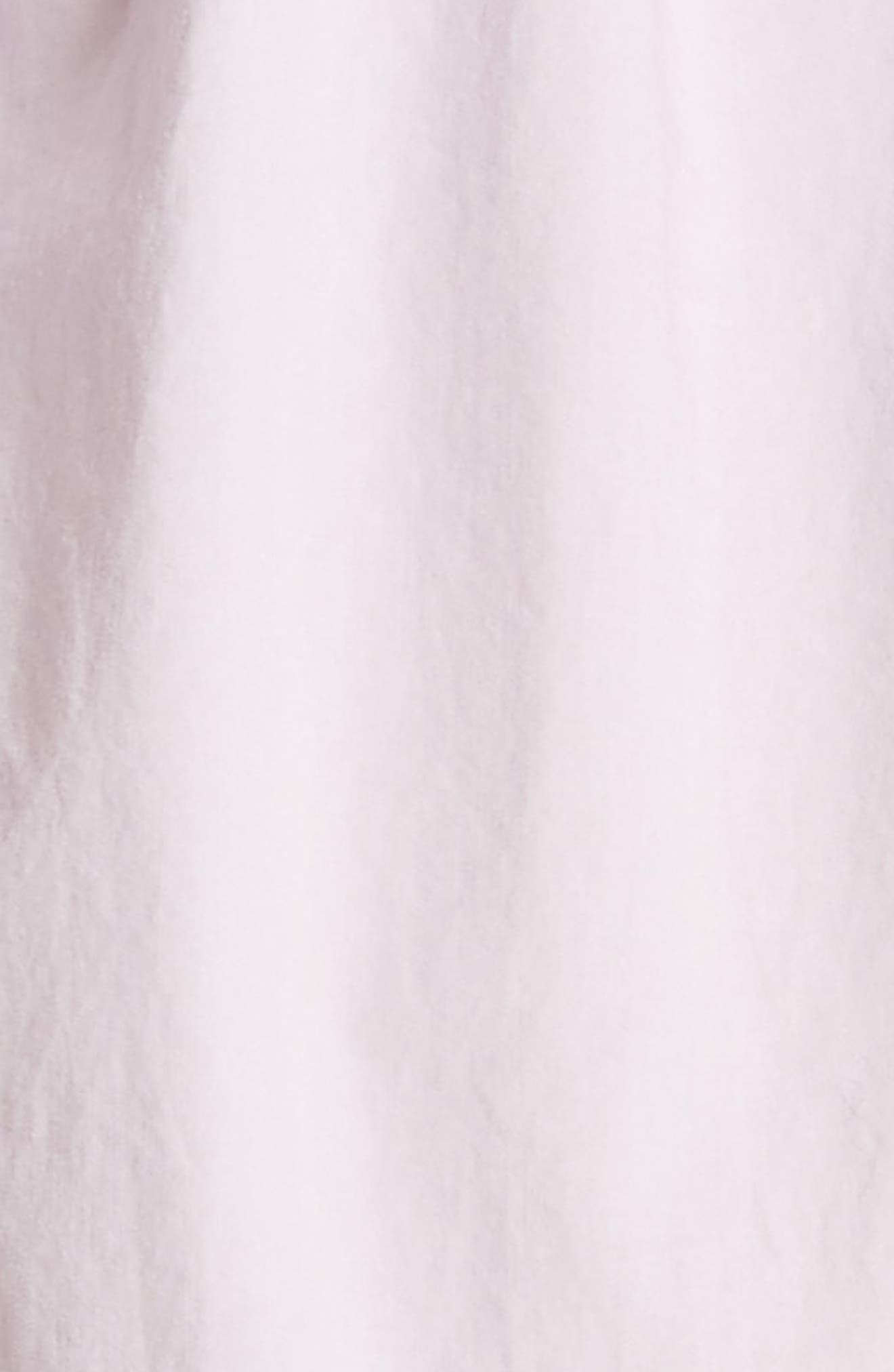 Ruffled Poplin Shirtdress,                             Alternate thumbnail 5, color,                             Lilac Dust