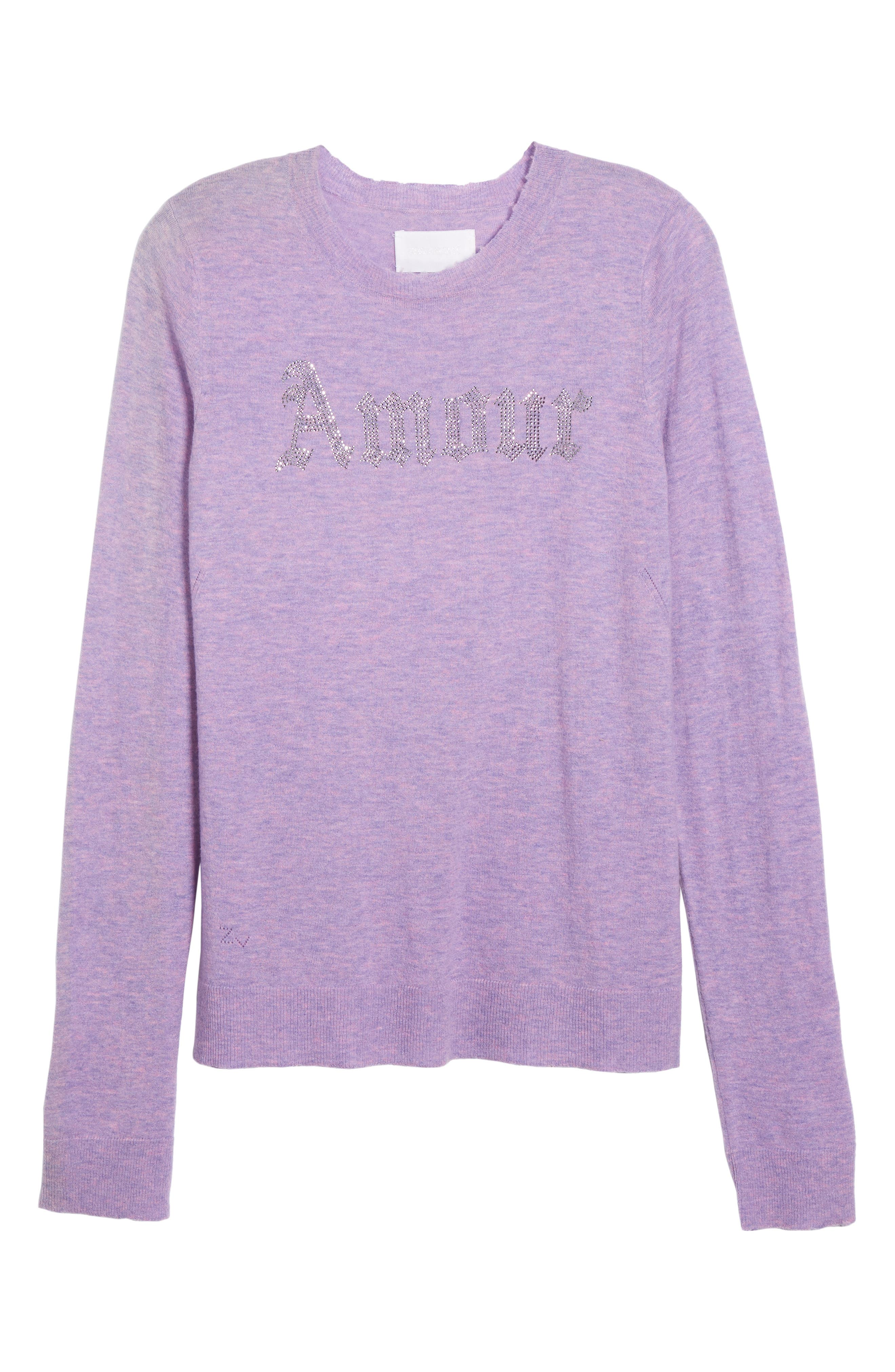 Miss Bis Cashmere Sweater,                             Alternate thumbnail 6, color,                             Lilac