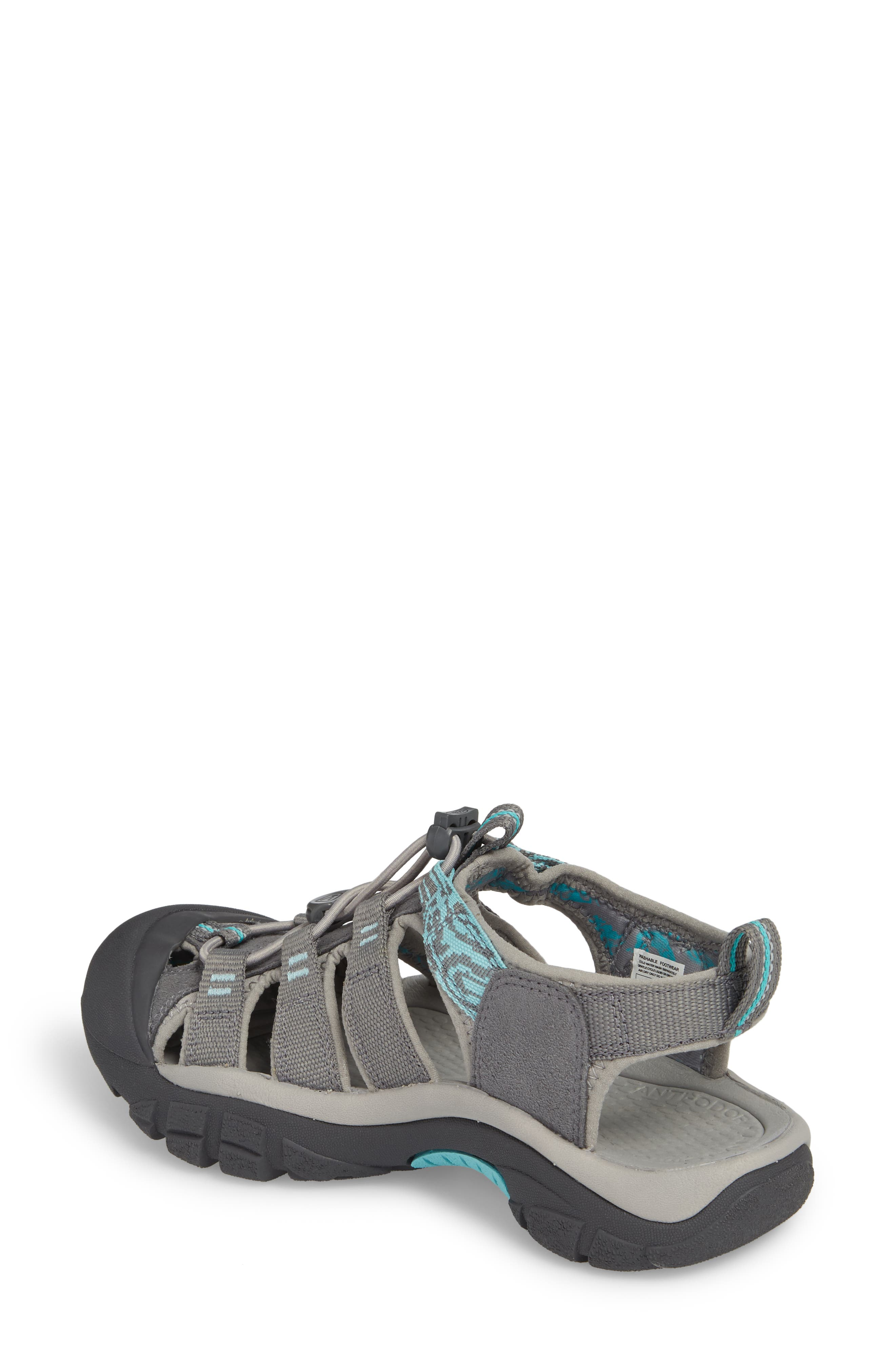 Newport Hydro Sandal,                             Alternate thumbnail 2, color,                             Steel Grey/ Blue Turquoise