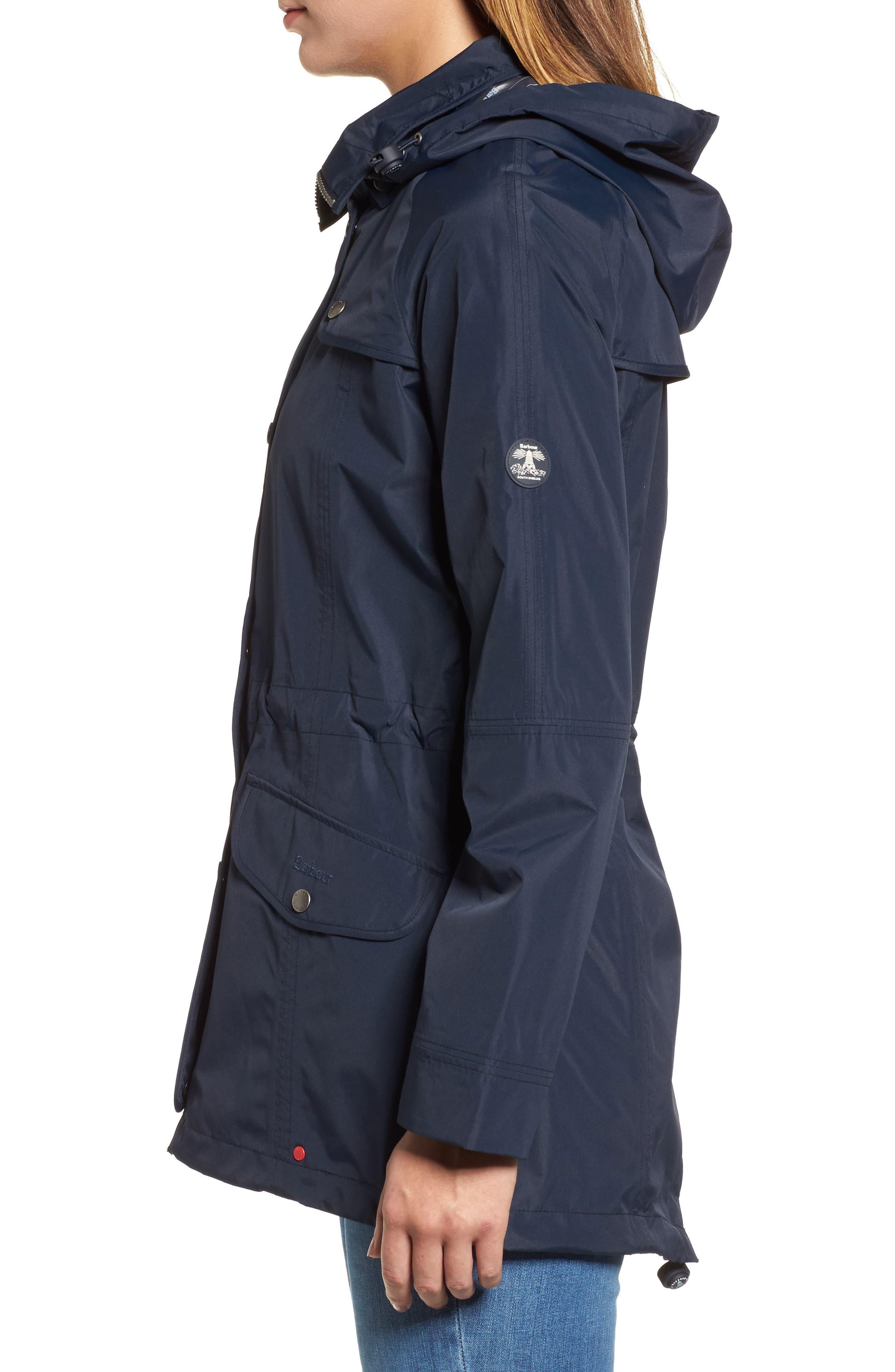 Trevose Hooded Jacket,                             Alternate thumbnail 3, color,                             Navy