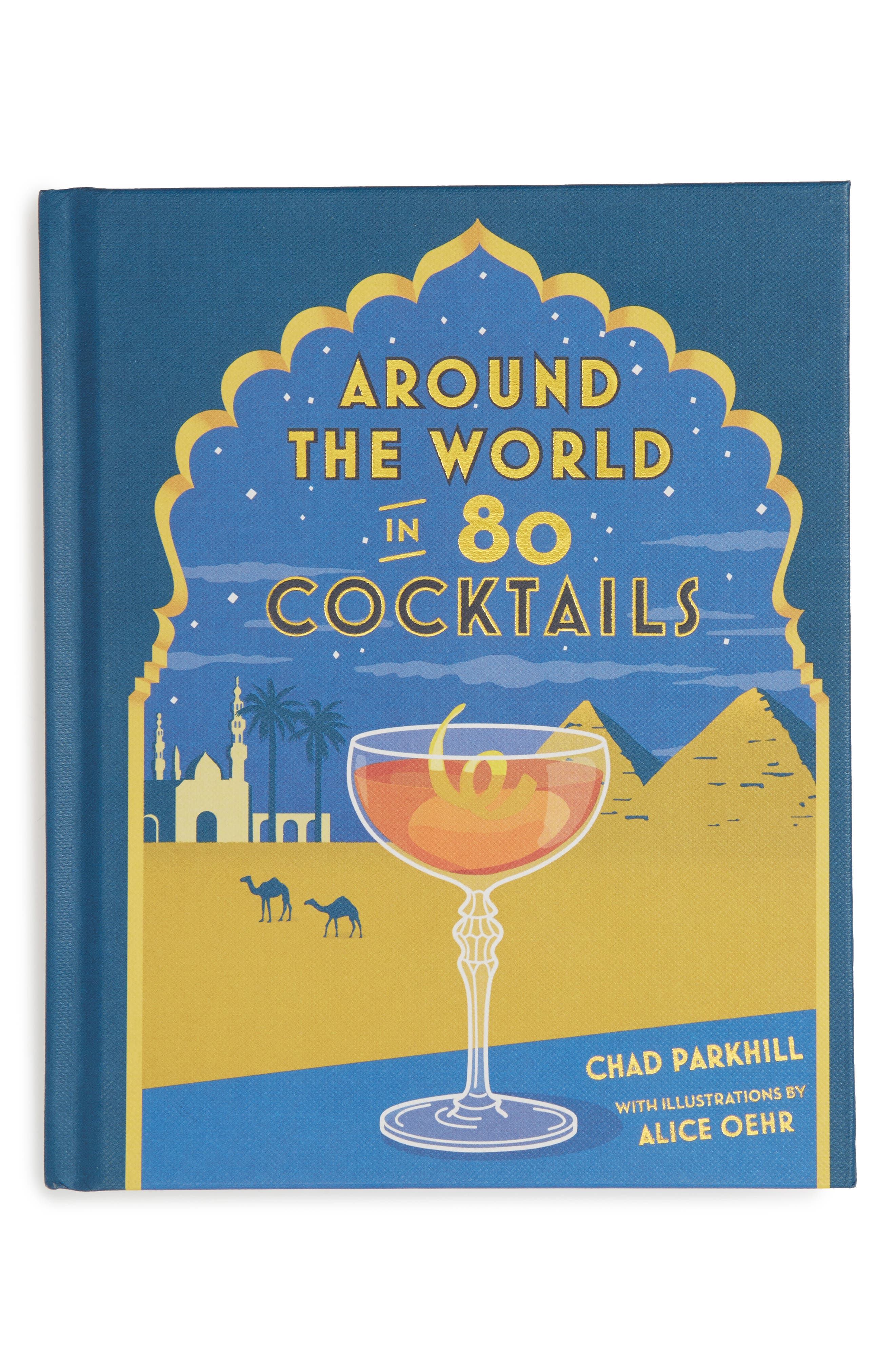 'Around the World in 80 Cocktails' Book,                         Main,                         color, Blue