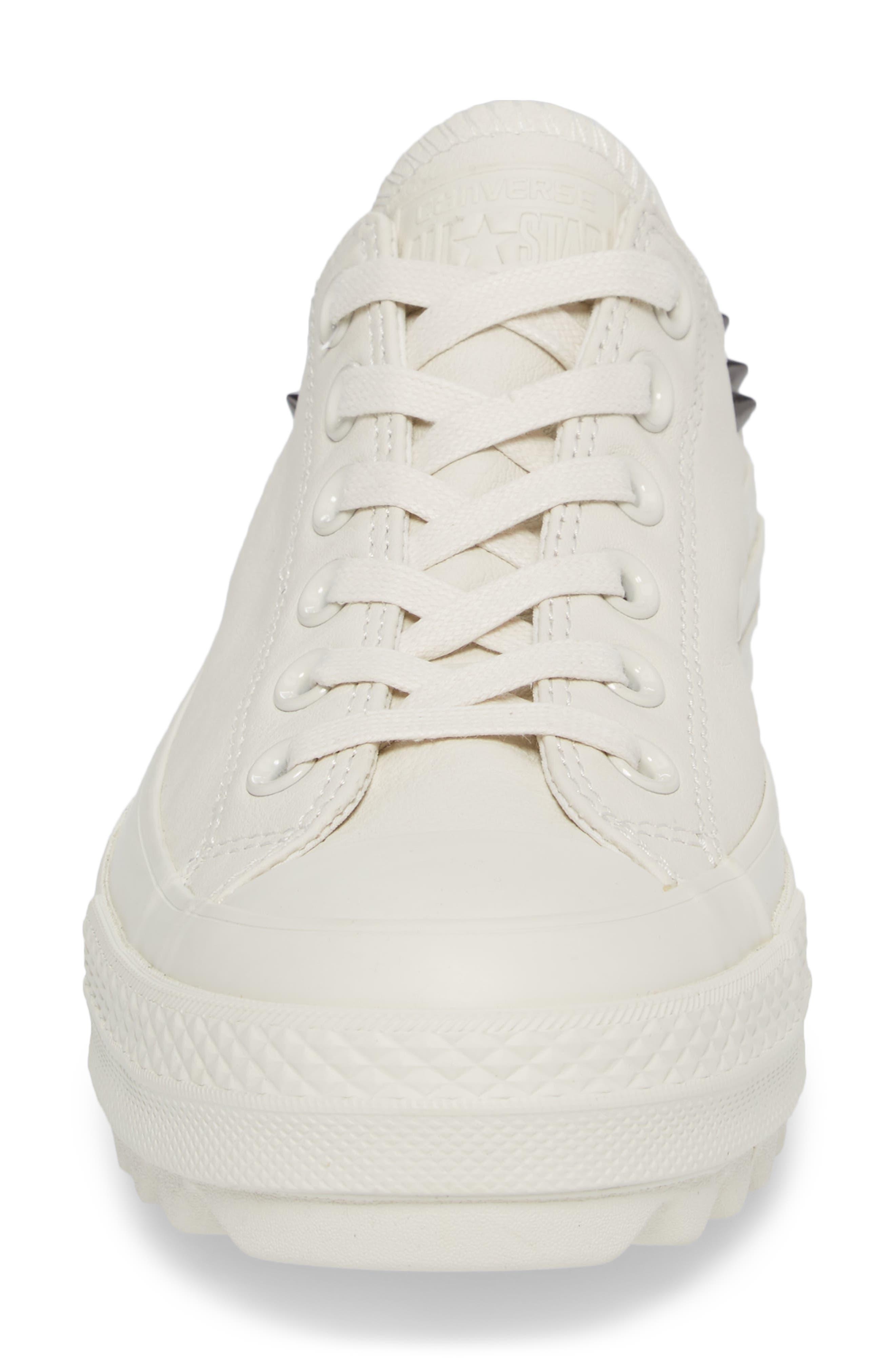 Studded Lift Ripple Sneaker,                             Alternate thumbnail 4, color,                             Vaporous Gray