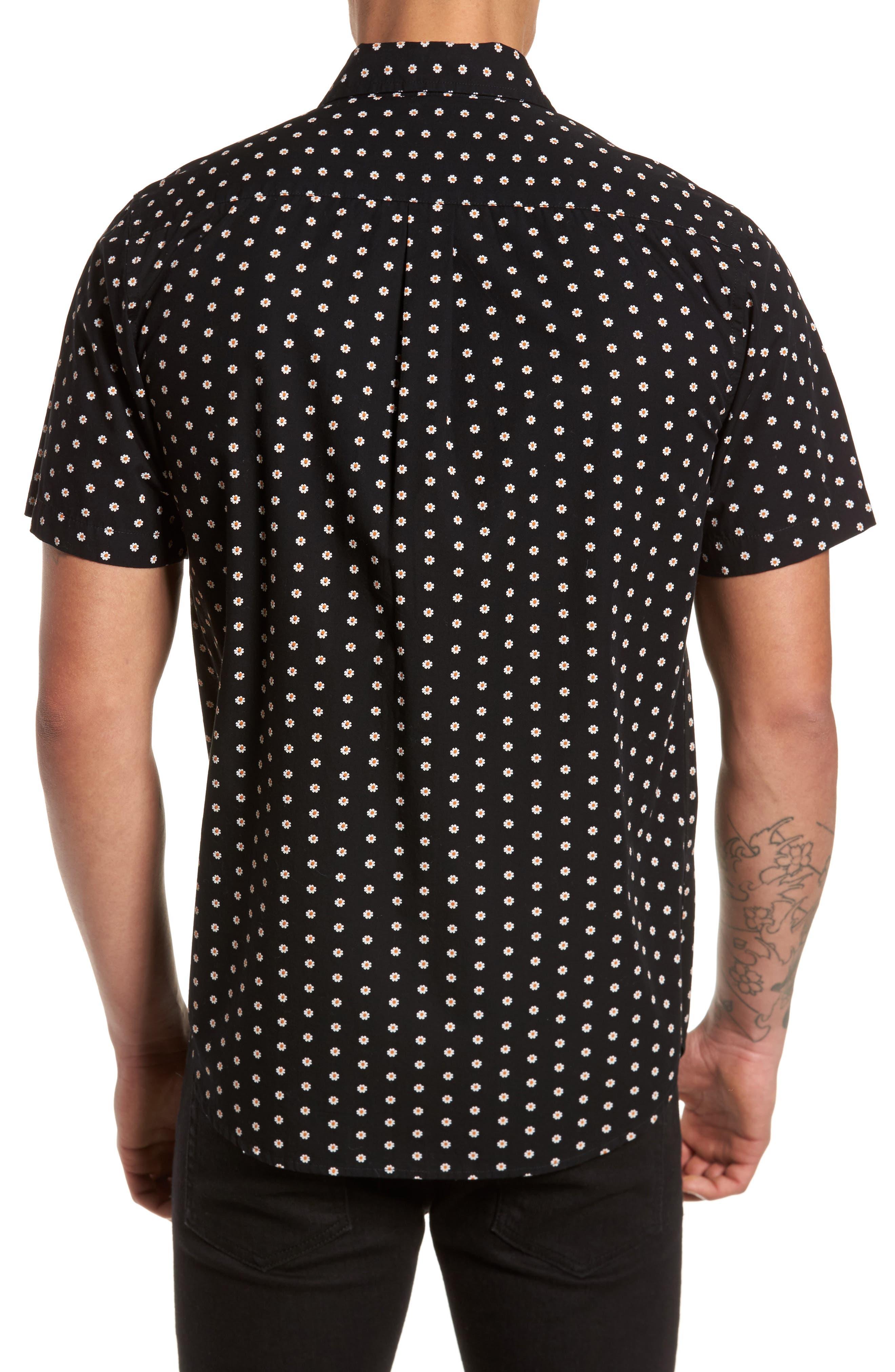 Brighton Short Sleeve Shirt,                             Alternate thumbnail 2, color,                             Black