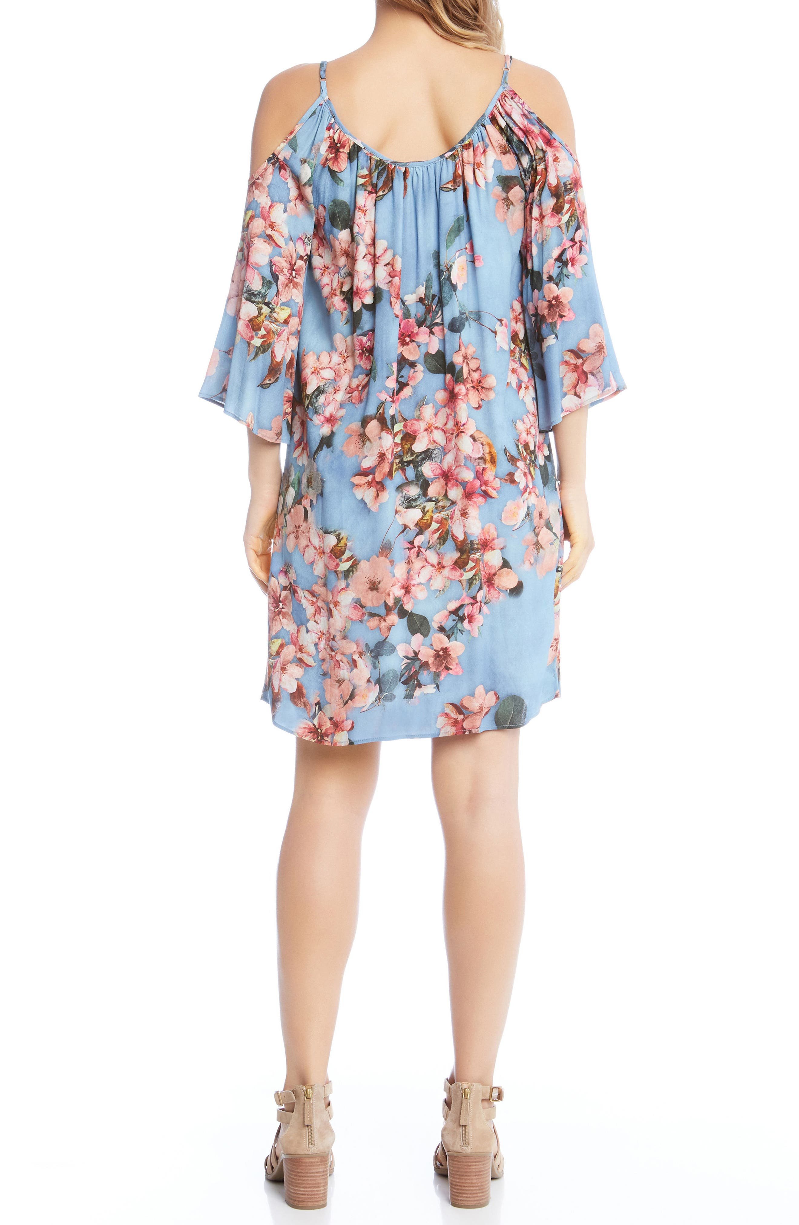 Floral Fresco Dress,                             Alternate thumbnail 3, color,                             Print
