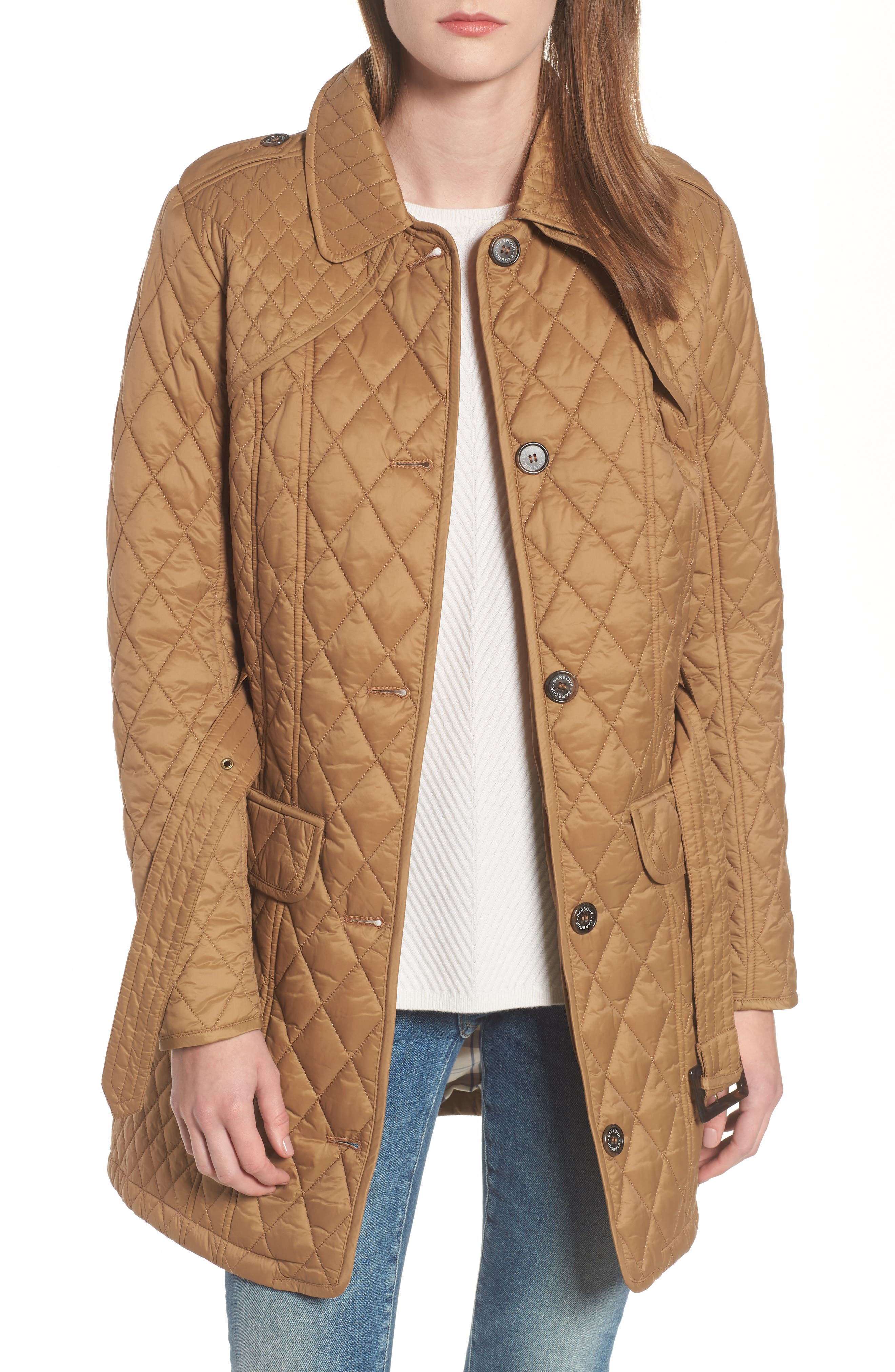 Alternate Image 1 Selected - Barbour Hailes Quilted Trench Jacket