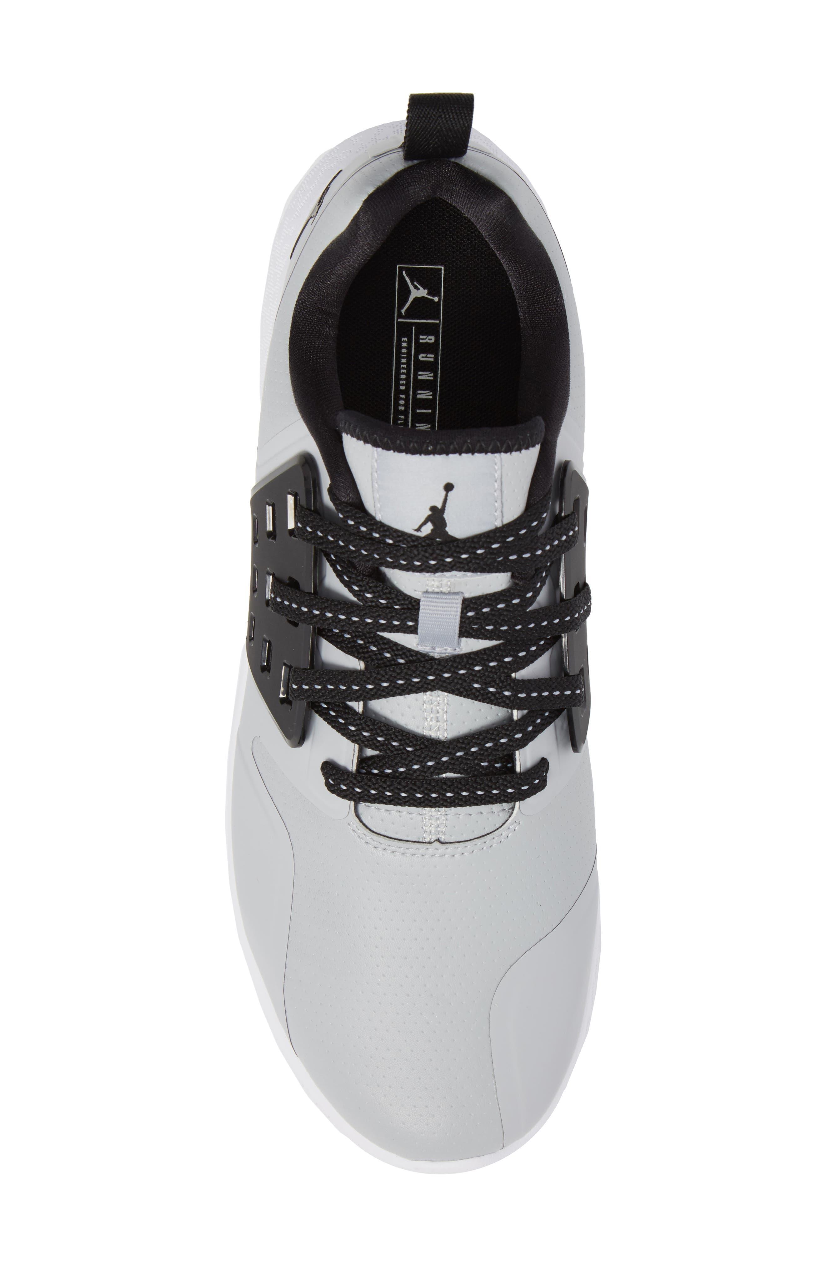 Jordan Grind Running Shoe,                             Alternate thumbnail 5, color,                             Wolf Grey/ Black/ White