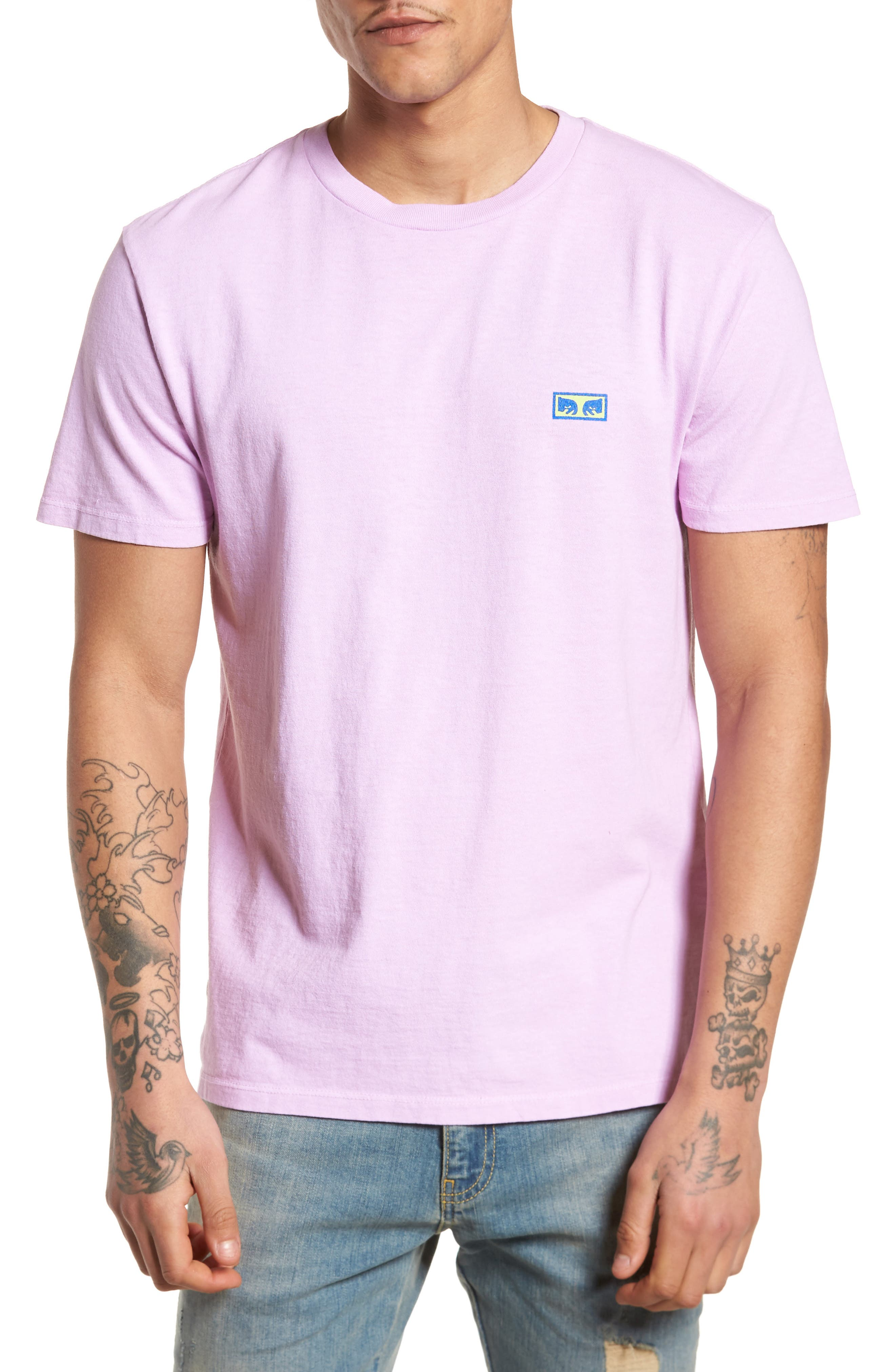 Flashback Pigment Dyed T-Shirt,                         Main,                         color, Dusty Lavender