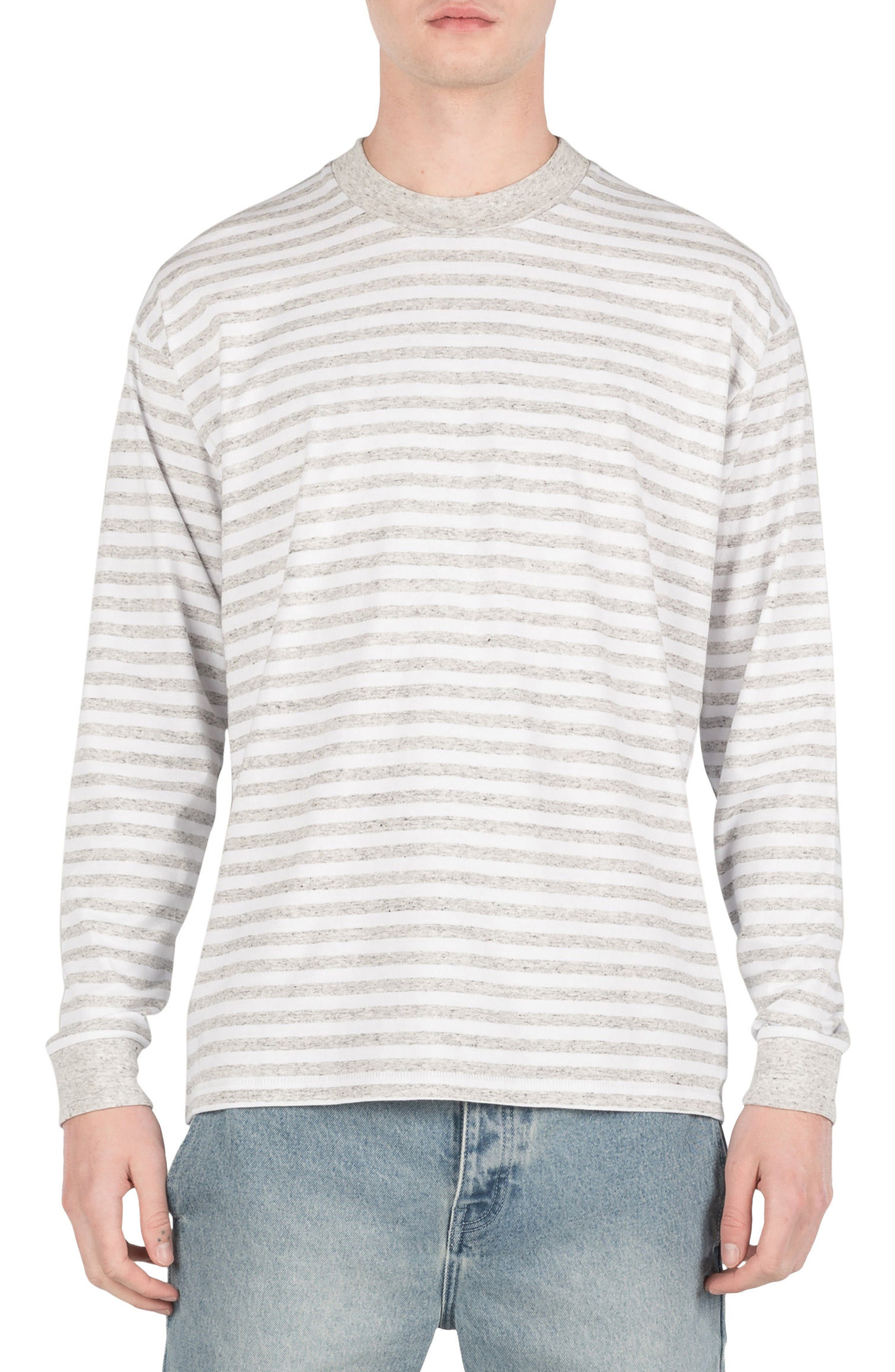 Box Long Sleeve T-Shirt,                             Main thumbnail 1, color,                             White/ Storm Marle