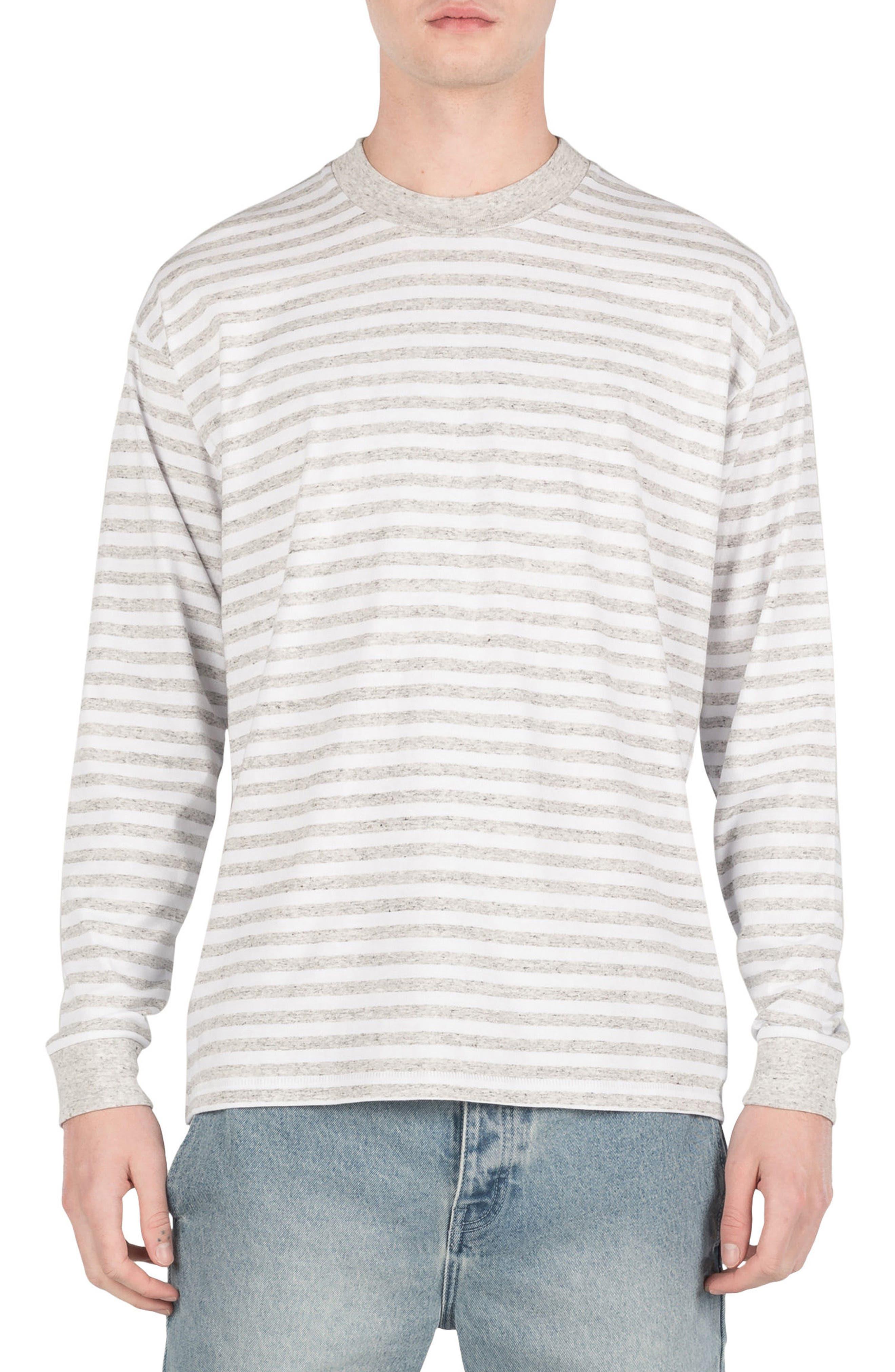 Box Long Sleeve T-Shirt,                         Main,                         color, White/ Storm Marle