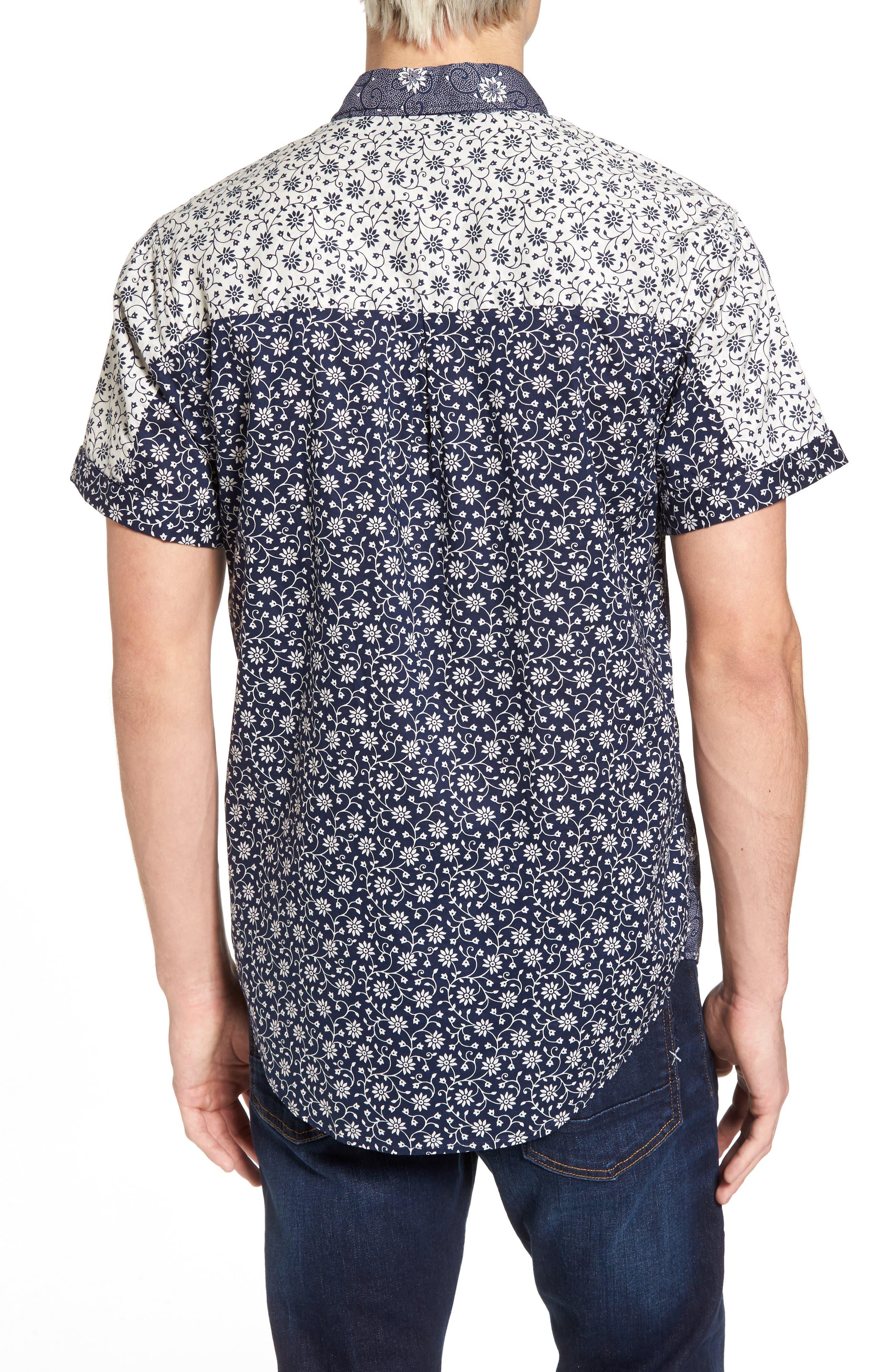 Mix & Match Print Woven Shirt,                             Alternate thumbnail 3, color,                             Combo A