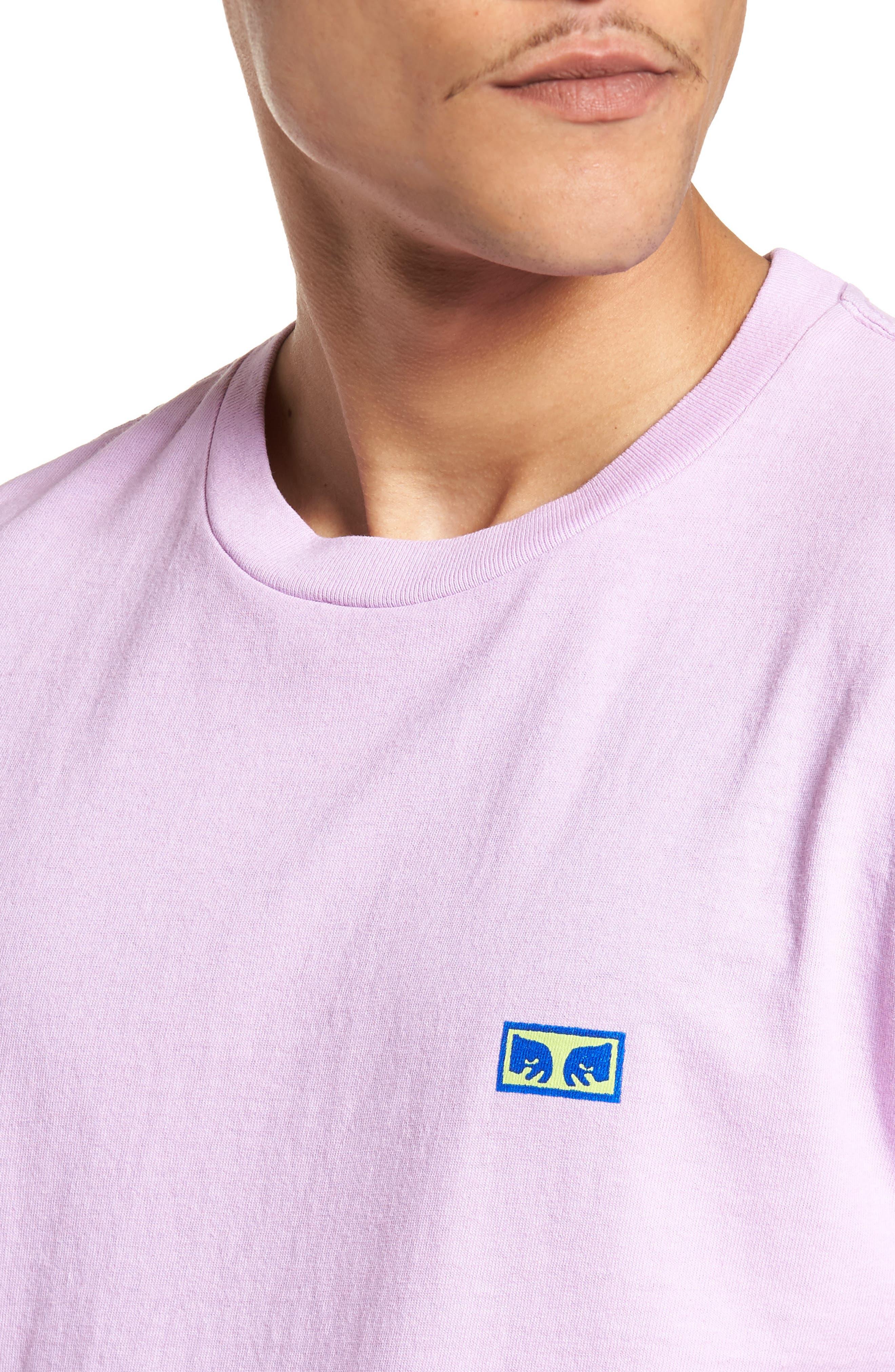 Flashback Pigment Dyed T-Shirt,                             Alternate thumbnail 4, color,                             Dusty Lavender