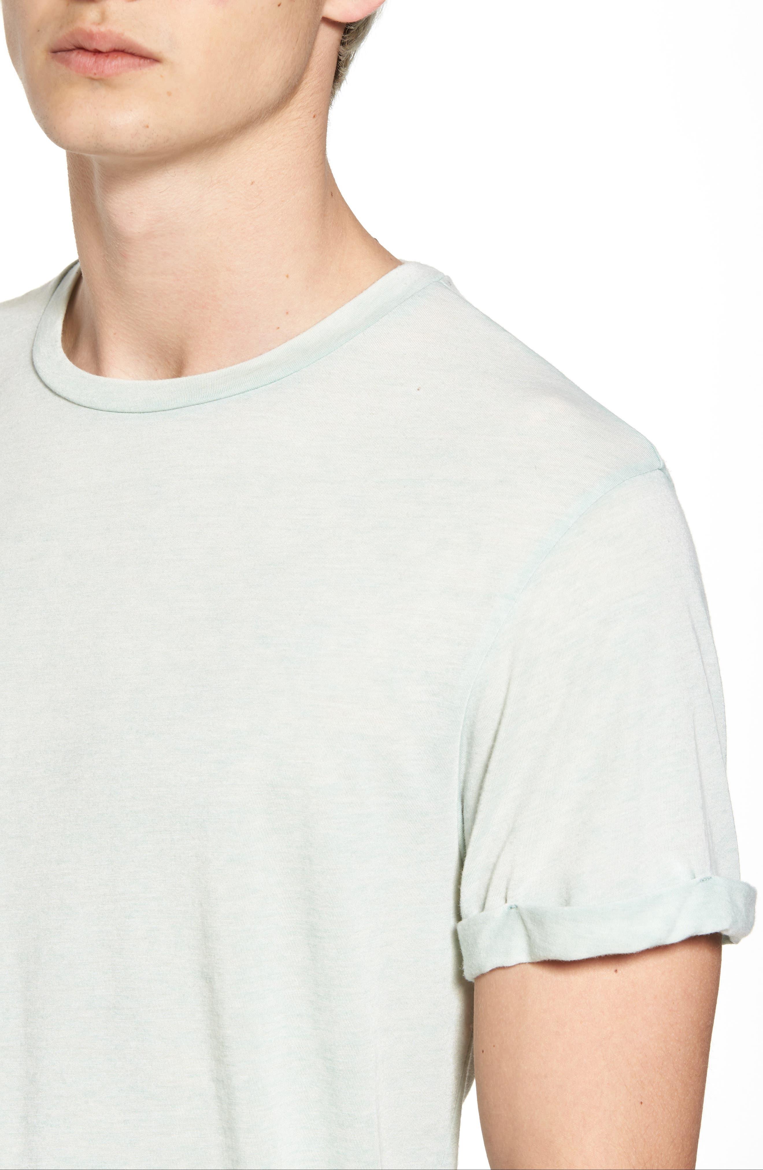 Ausbrenner T-Shirt,                             Alternate thumbnail 4, color,                             Seafoam Green Melange