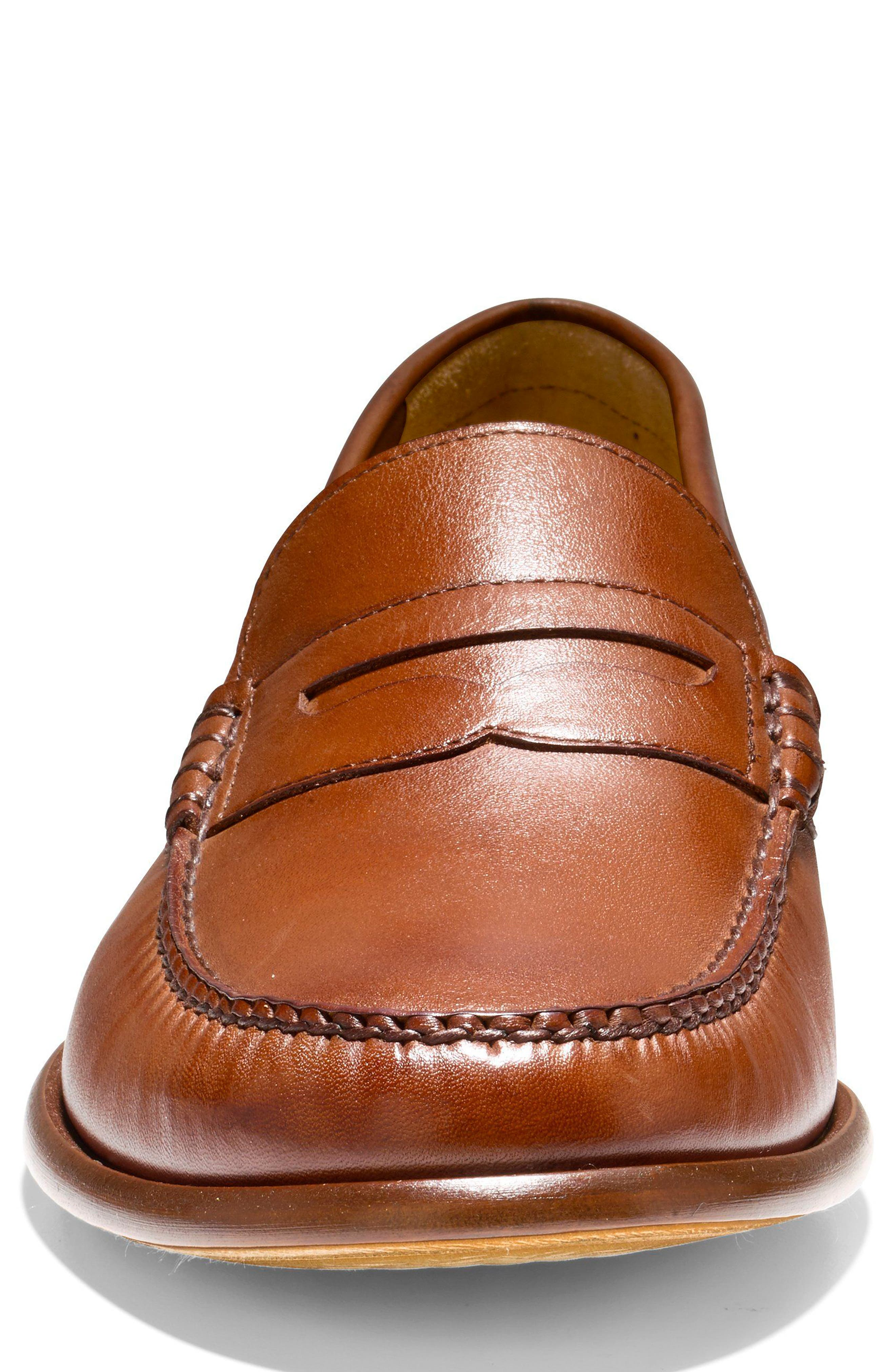 Pinch Penny Loafer,                             Alternate thumbnail 4, color,                             British Tan Leather