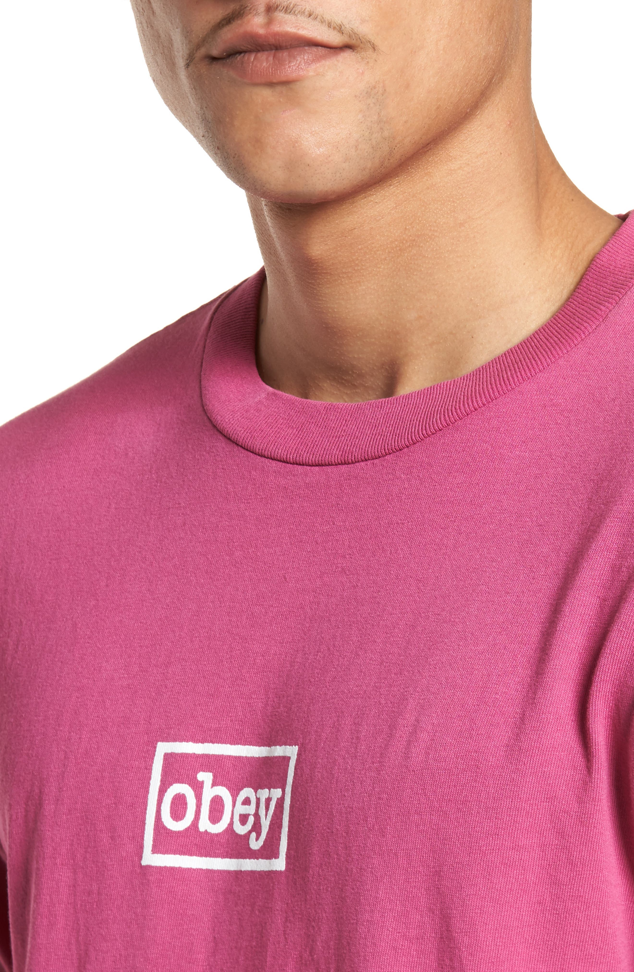 Typewriter Pigment Dyed T-Shirt,                             Alternate thumbnail 4, color,                             Dusty Magenta