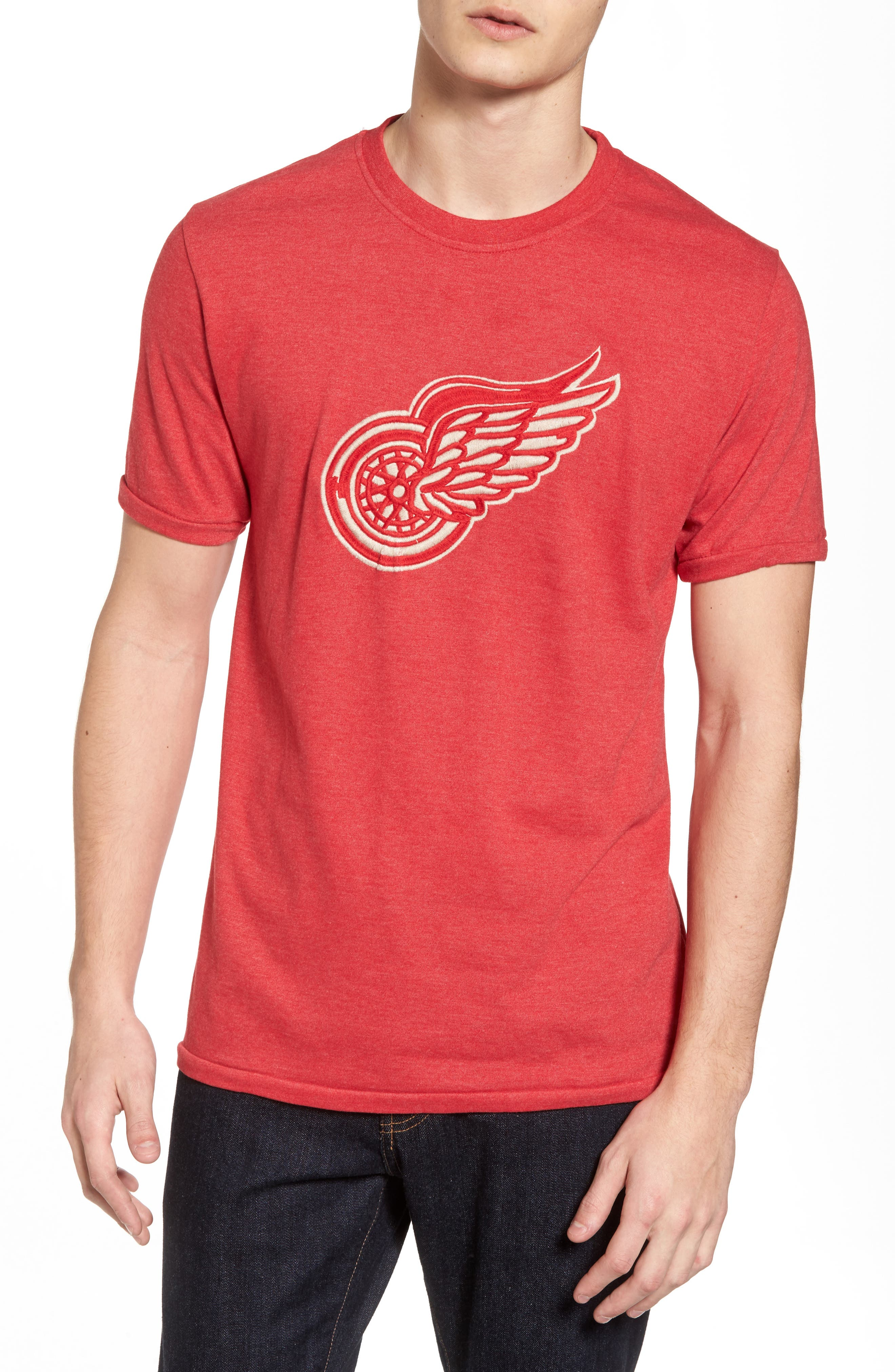 Hillwood Red Wings T-Shirt,                         Main,                         color, Heather Red