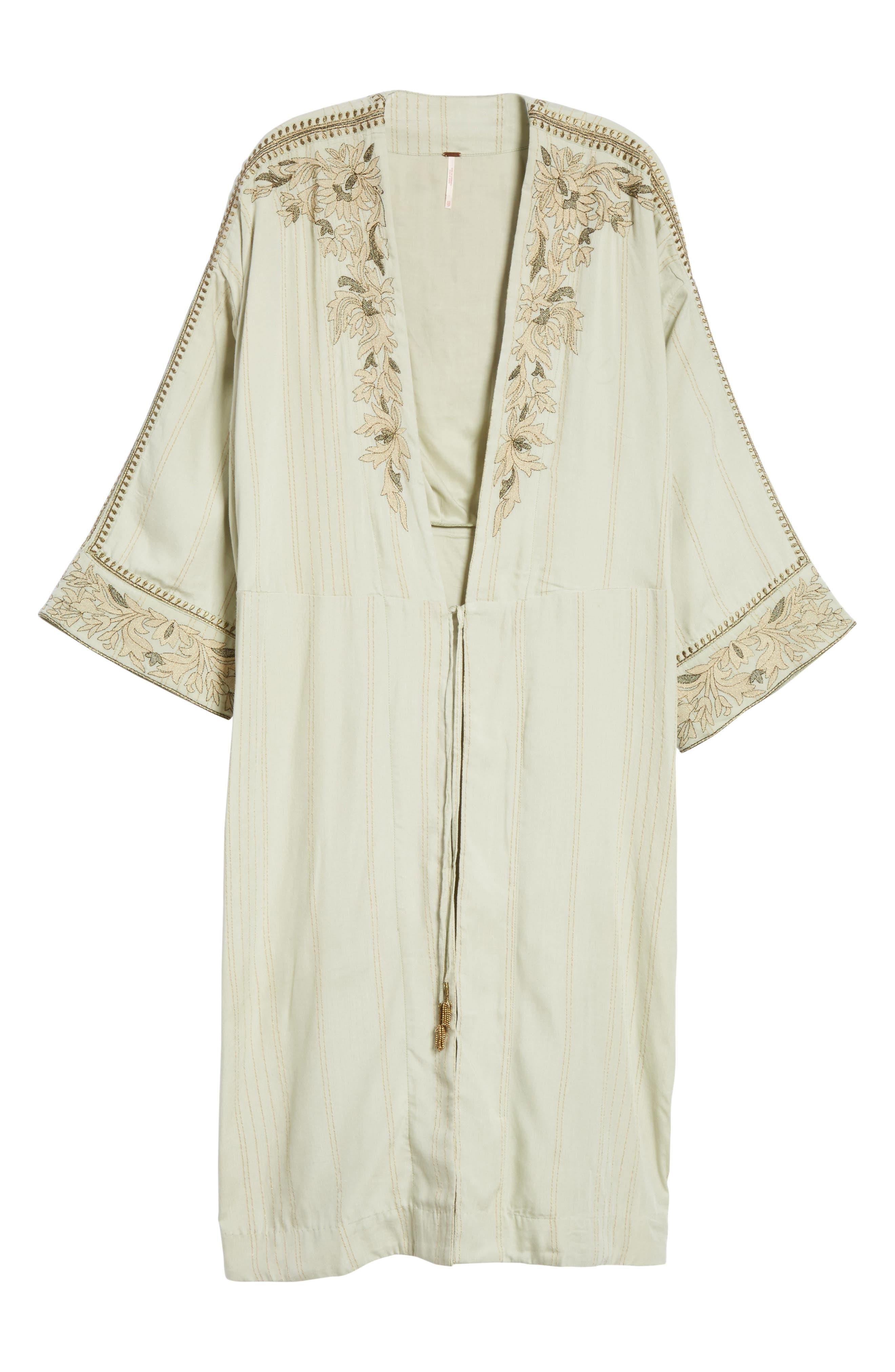 Afterglow Kimono Jacket,                             Alternate thumbnail 6, color,                             Mint