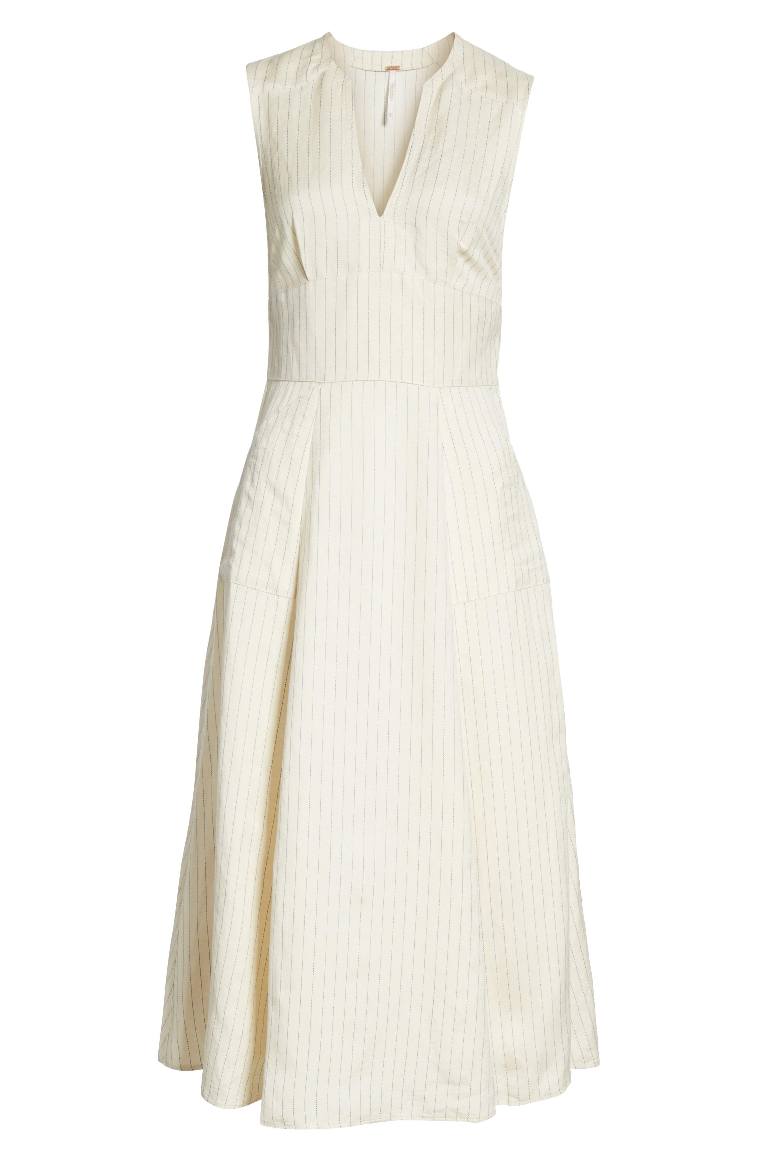 Pretty Daze Midi Dress,                             Alternate thumbnail 6, color,                             Ivory Combo