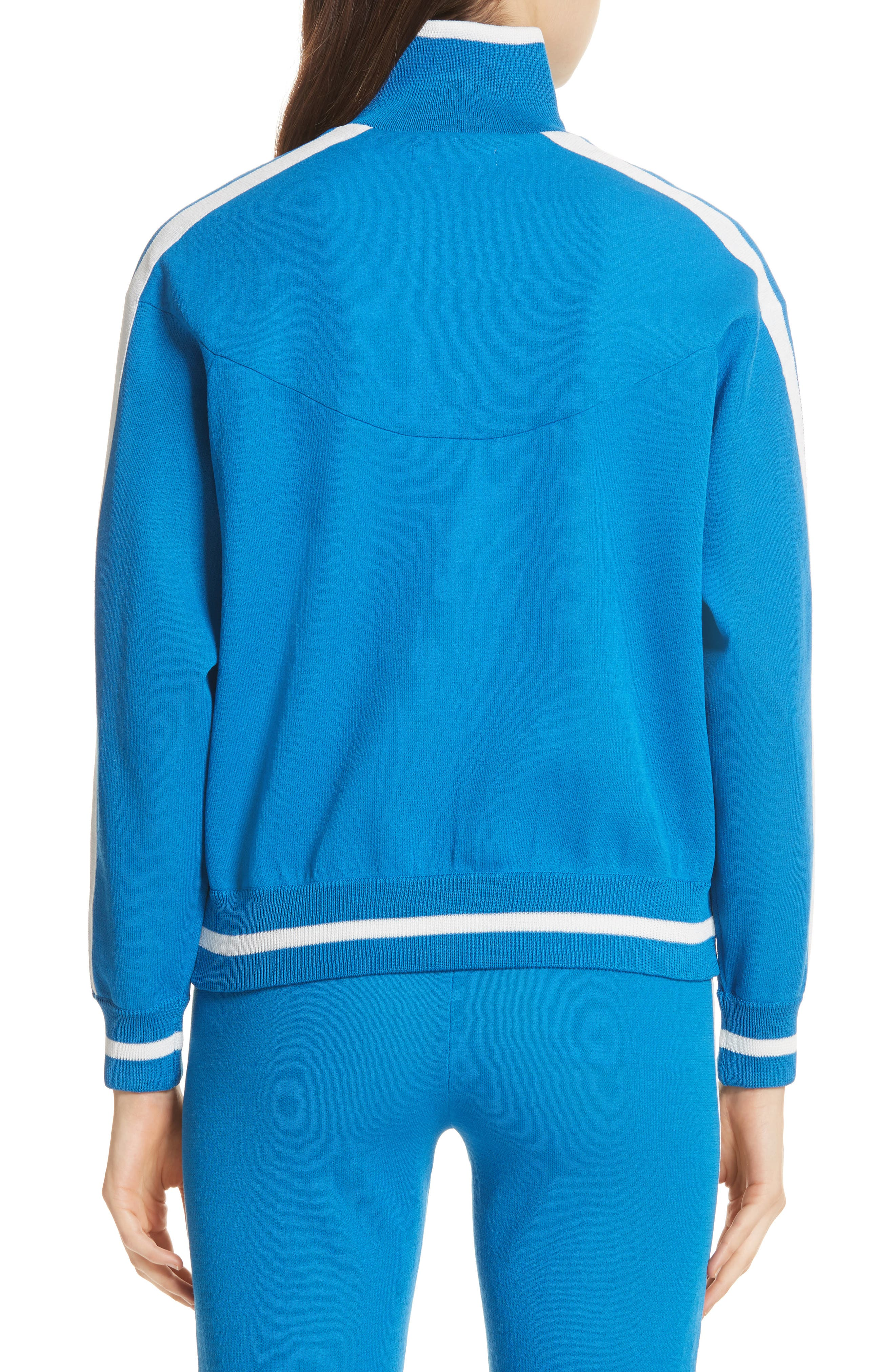 Isabel Marant Étoile Darcy Track Jacket,                             Alternate thumbnail 3, color,                             Electric Blue