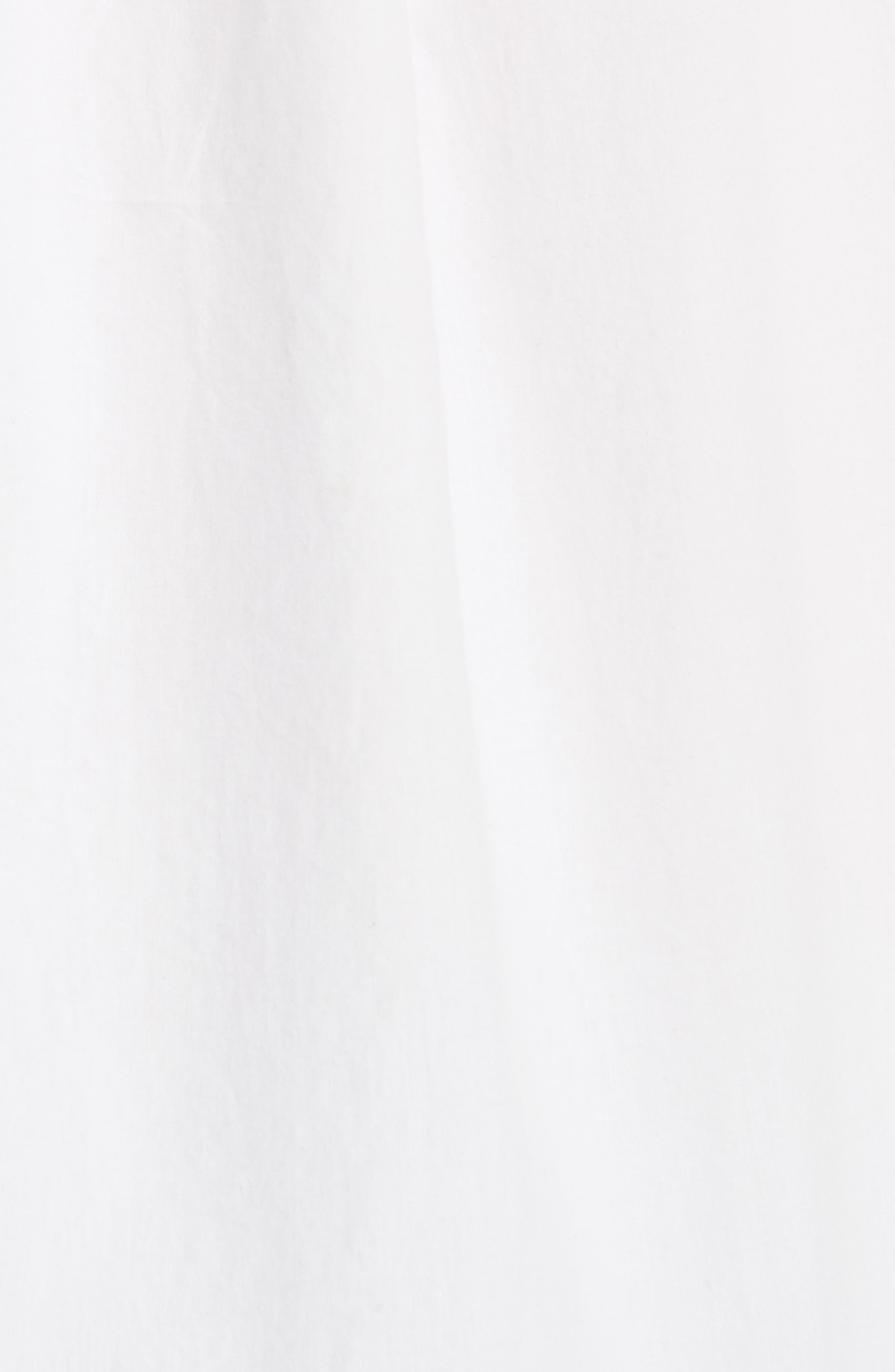 Ghada Peasant Top,                             Alternate thumbnail 5, color,                             Clean White