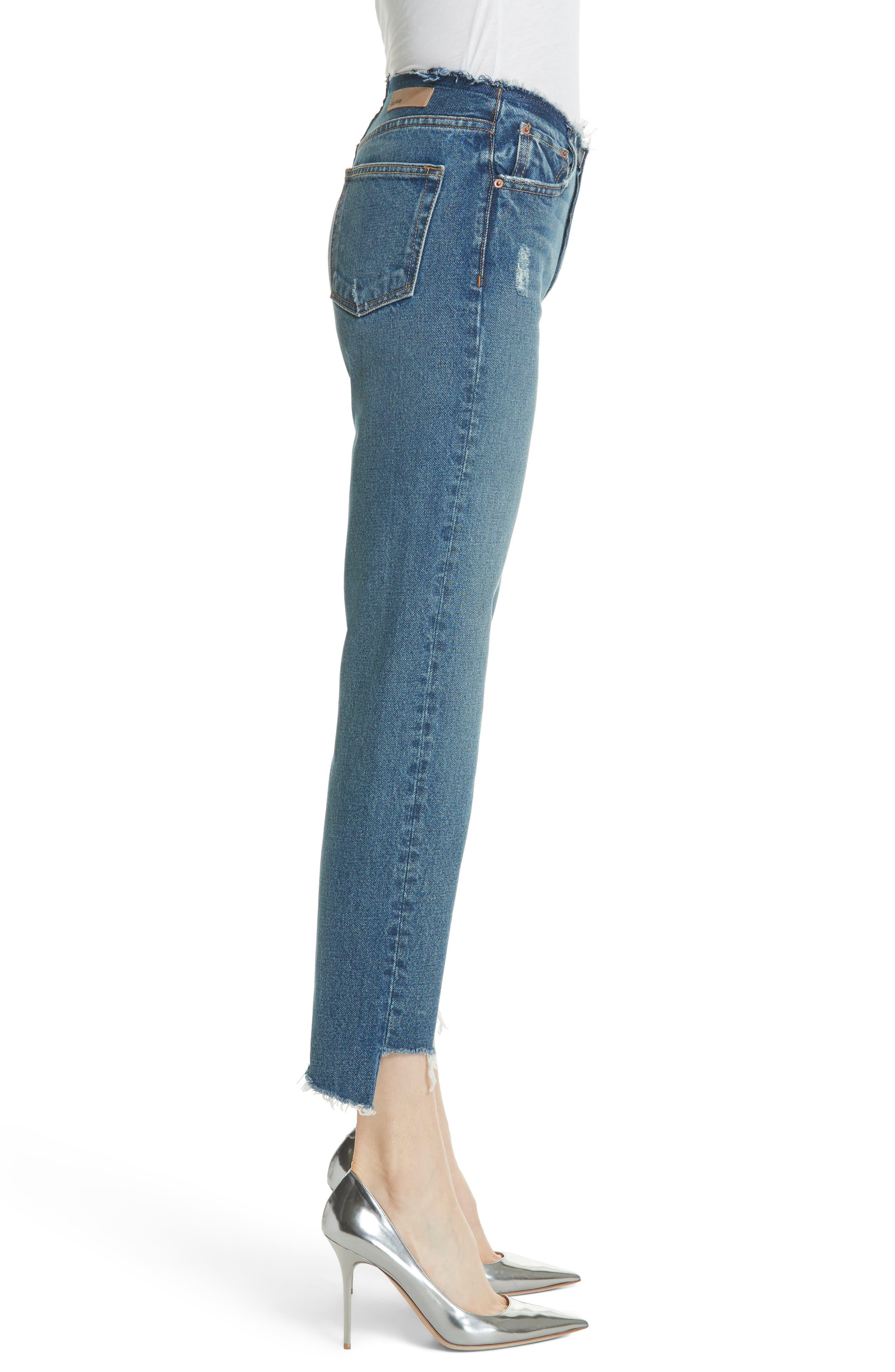 Shannan Step Hem Crop Jeans,                             Alternate thumbnail 3, color,                             Show Down G611