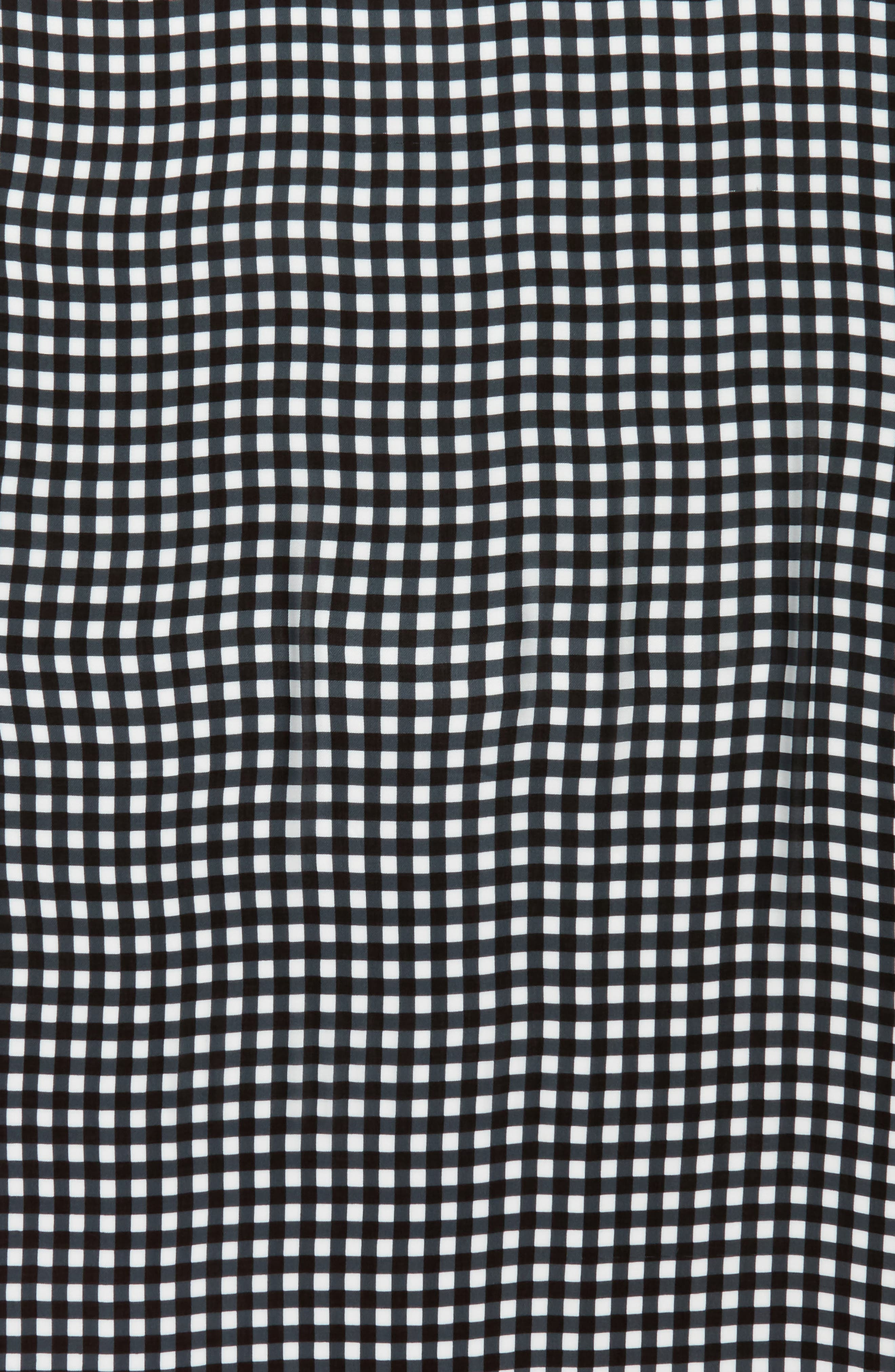 gingham scarf,                             Alternate thumbnail 4, color,                             Black