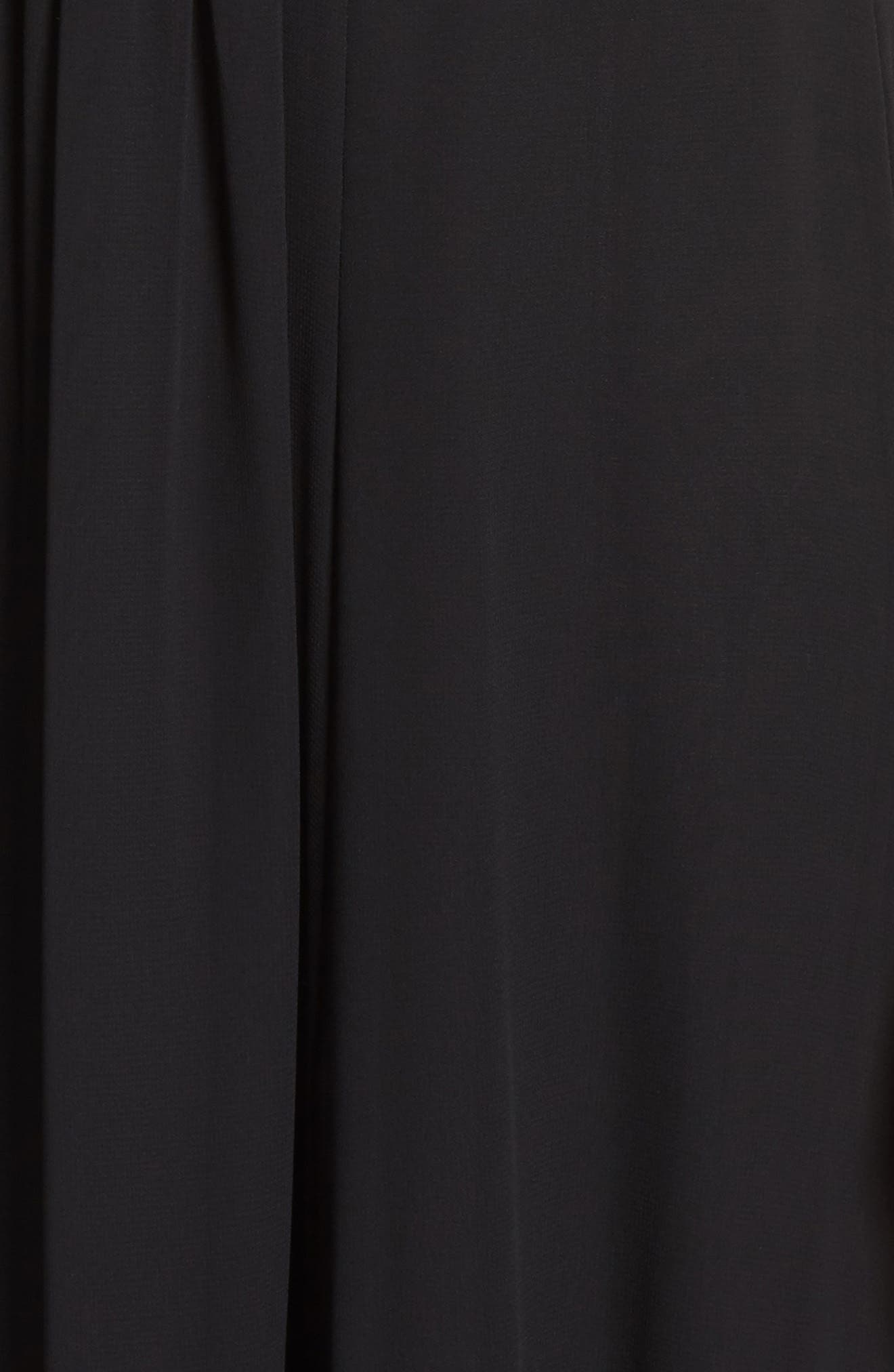 Lace Bodice Gown,                             Alternate thumbnail 5, color,                             Silver Com