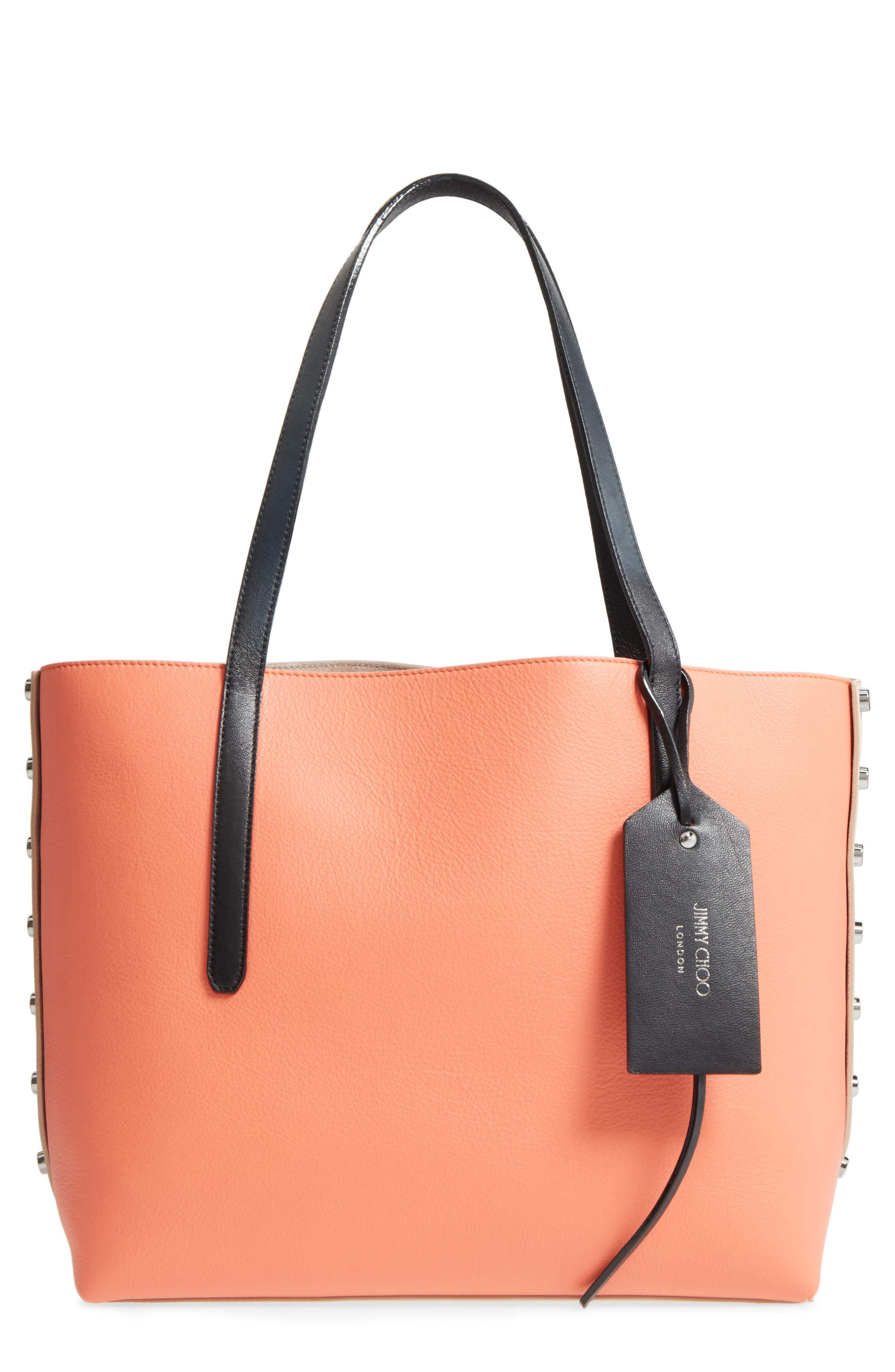 Alternate Image 1 Selected - Jimmy Choo Twist Leather Tote