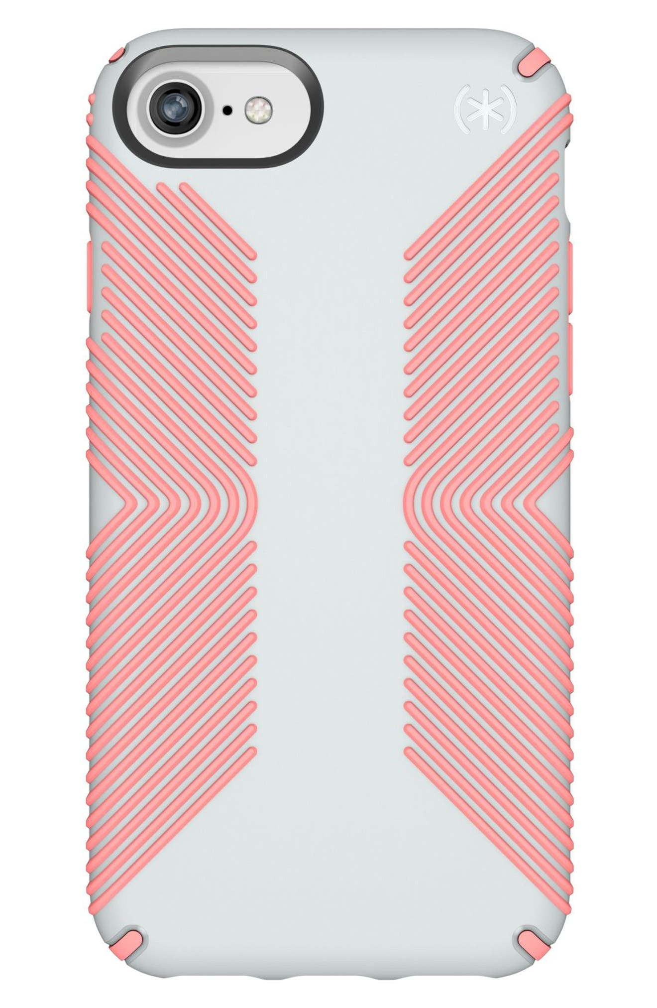 Grip iPhone 6/6s/7/8 Case,                         Main,                         color, Dove Grey/ Tart Pink