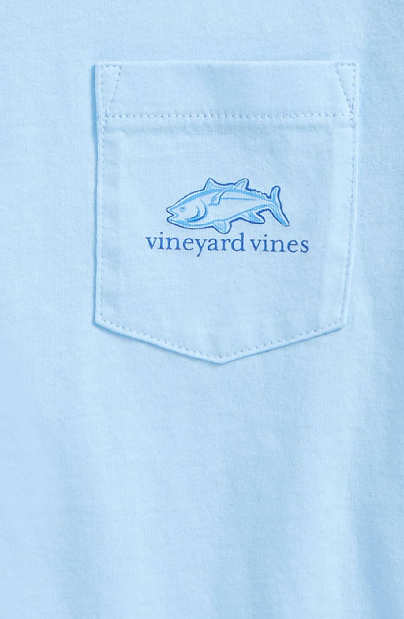 Tuna in Coral Whale Pocket T-Shirt,                             Alternate thumbnail 3, color,                             Jake Blue
