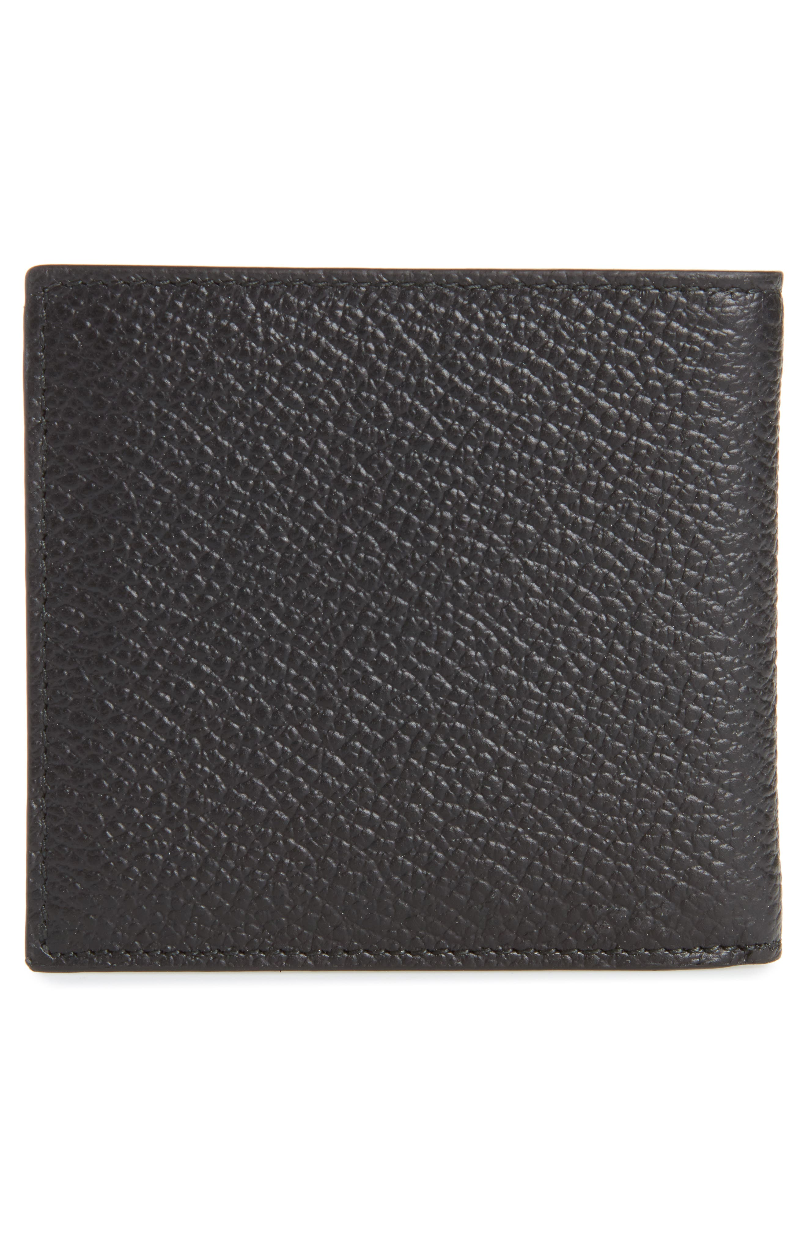 Leather Billfold Wallet,                             Alternate thumbnail 2, color,                             Black