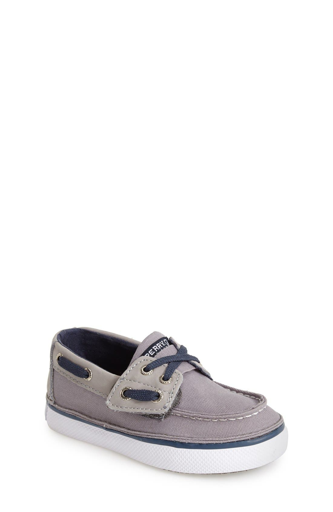 Main Image - Sperry Kids 'Cruz Jr.' Slip-On Boat Shoe (Walker & Toddler)