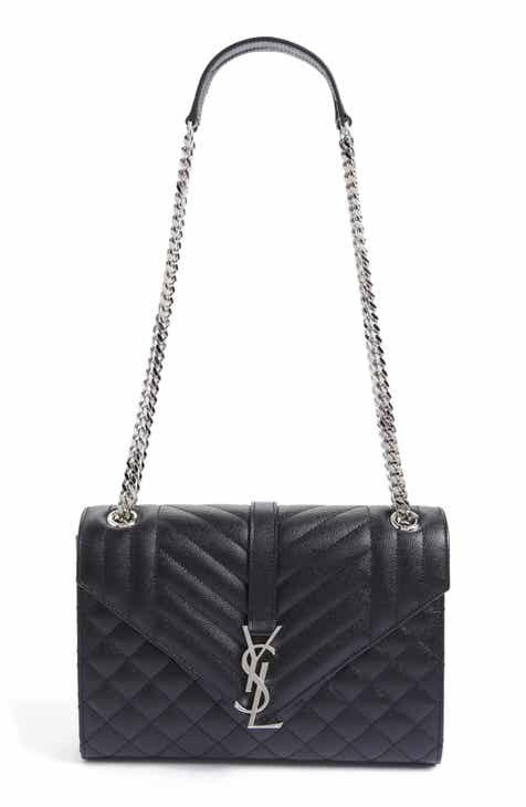 0cdc5071af15 Saint Laurent Large Monogram Quilted Leather Shoulder Bag