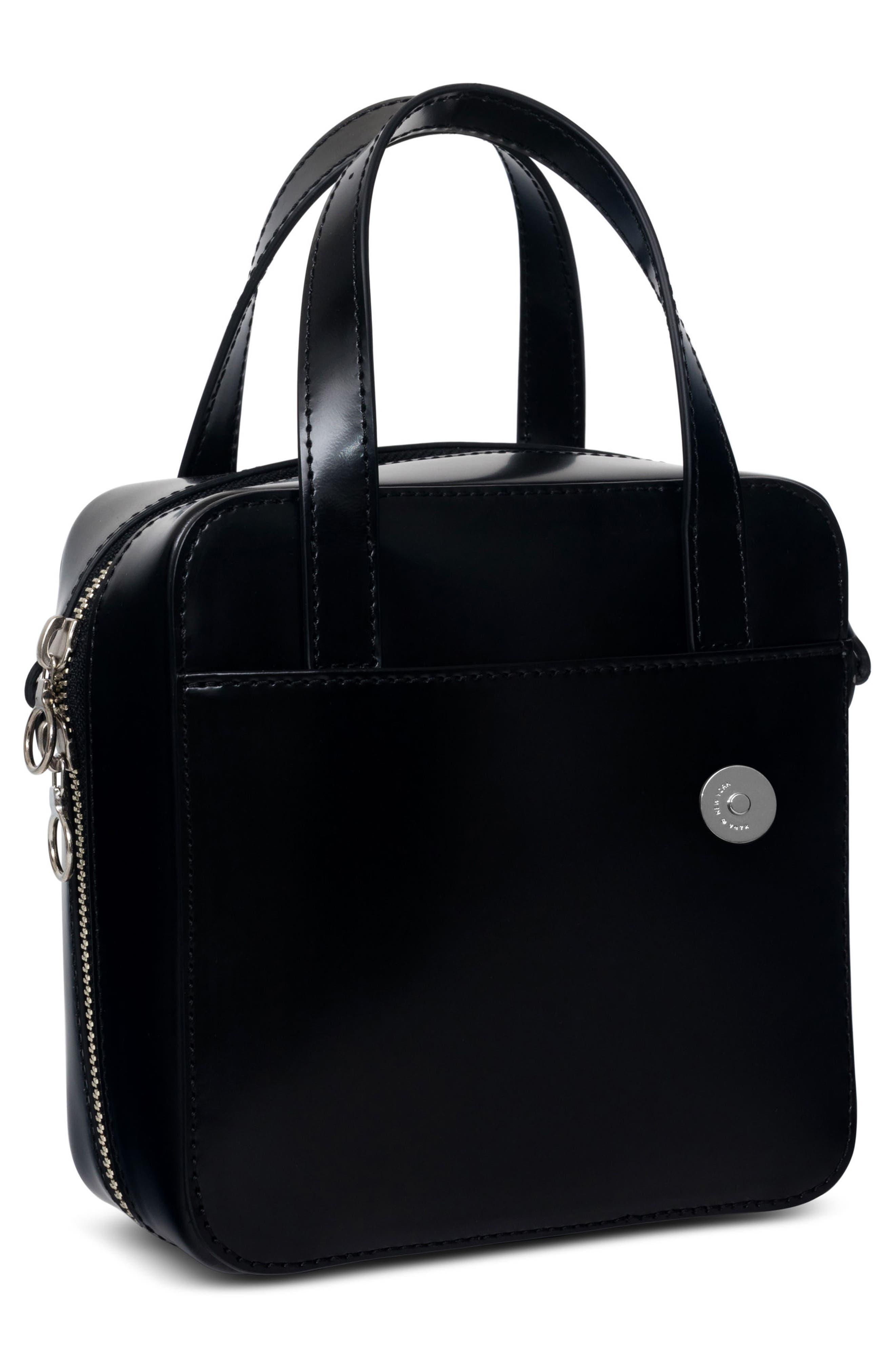 Small Brick Bag,                             Alternate thumbnail 4, color,                             Void Black
