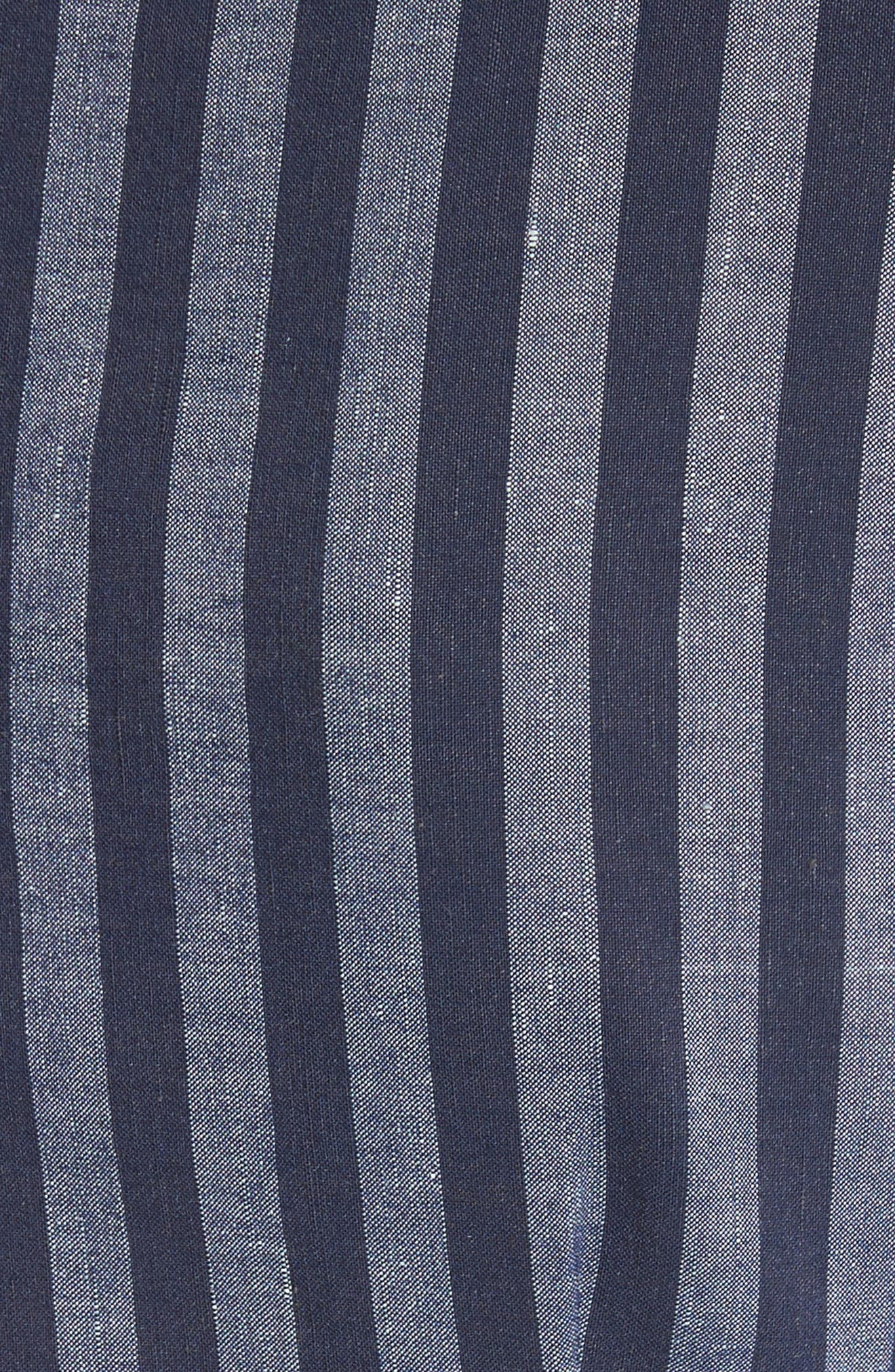 Directional Stripe A-Line Dress,                             Alternate thumbnail 5, color,                             India Ink